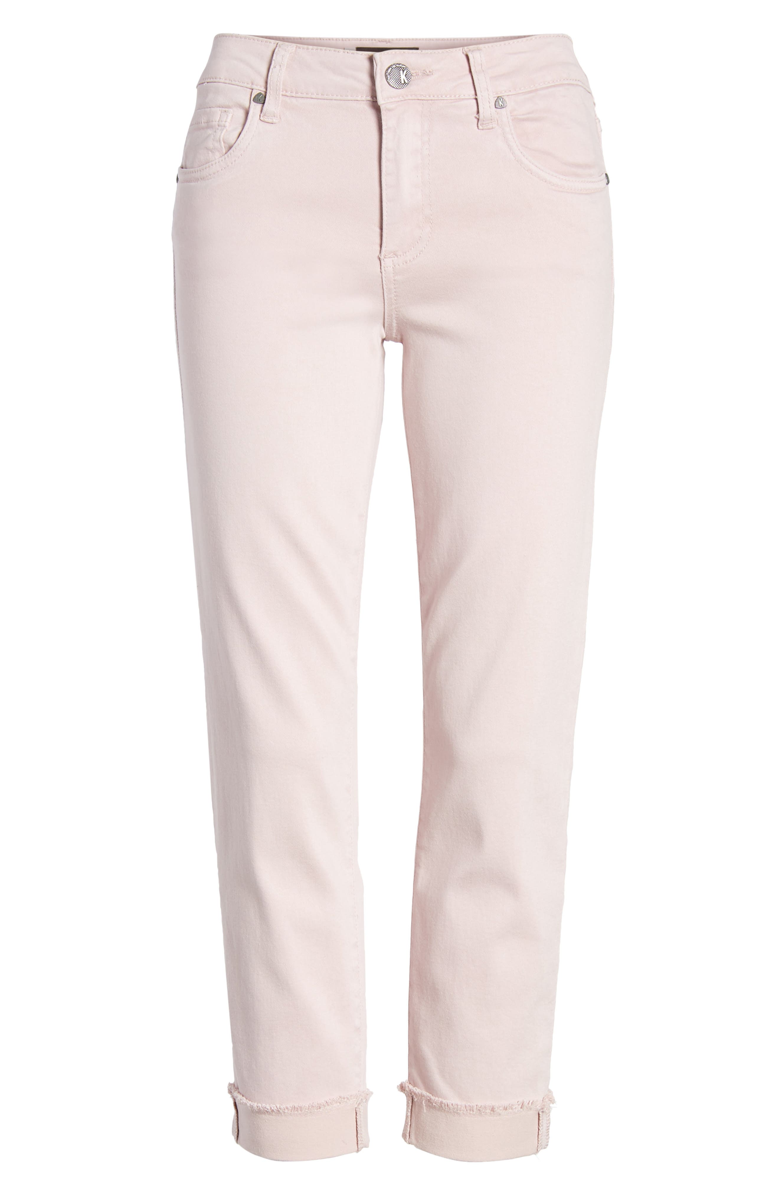 KUT from the Kloth Amy Crop Skinny Jeans,                             Alternate thumbnail 7, color,                             Rose
