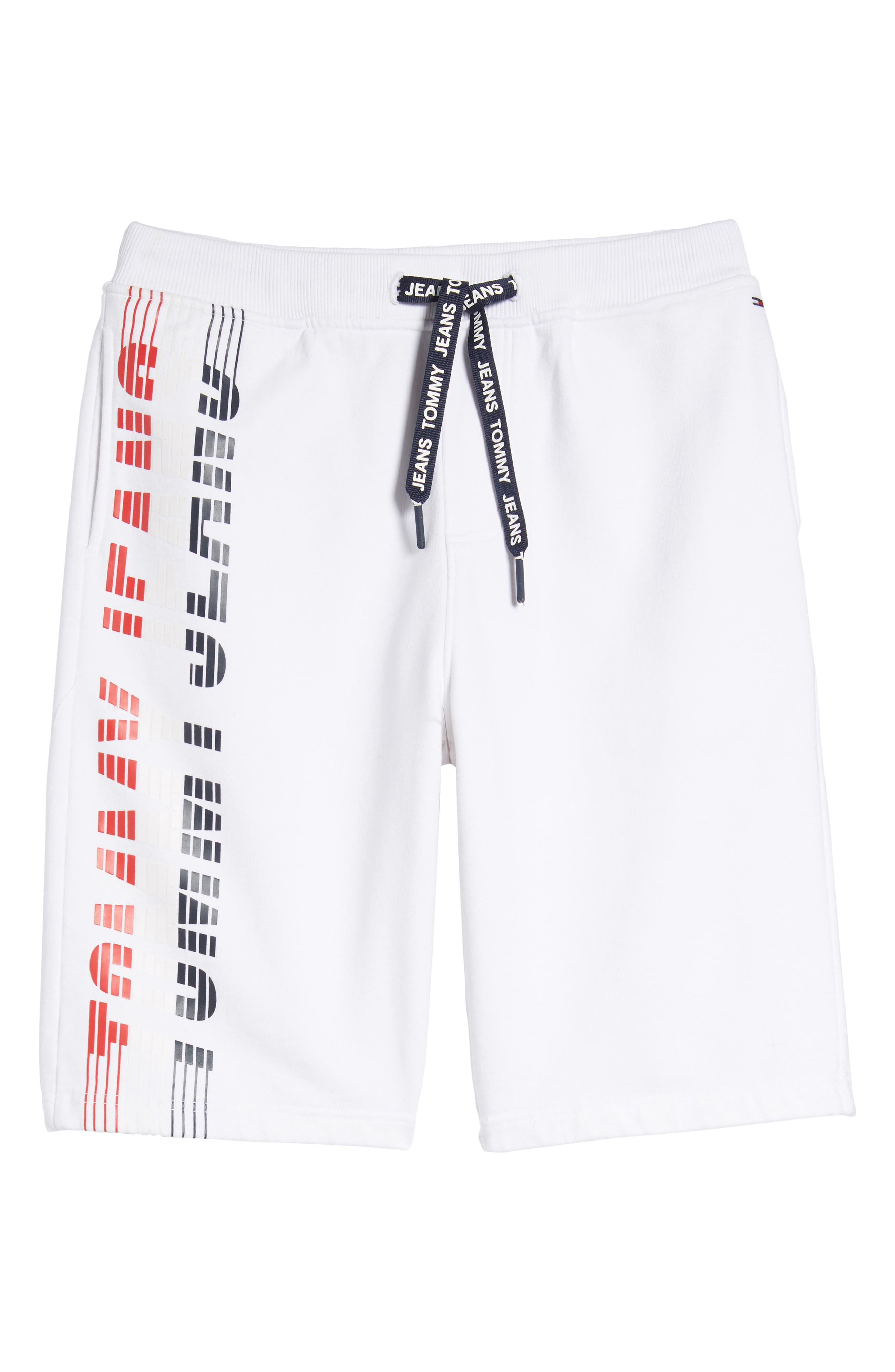 Vintage Graphic Basketball Shorts,                             Alternate thumbnail 6, color,                             Classic White