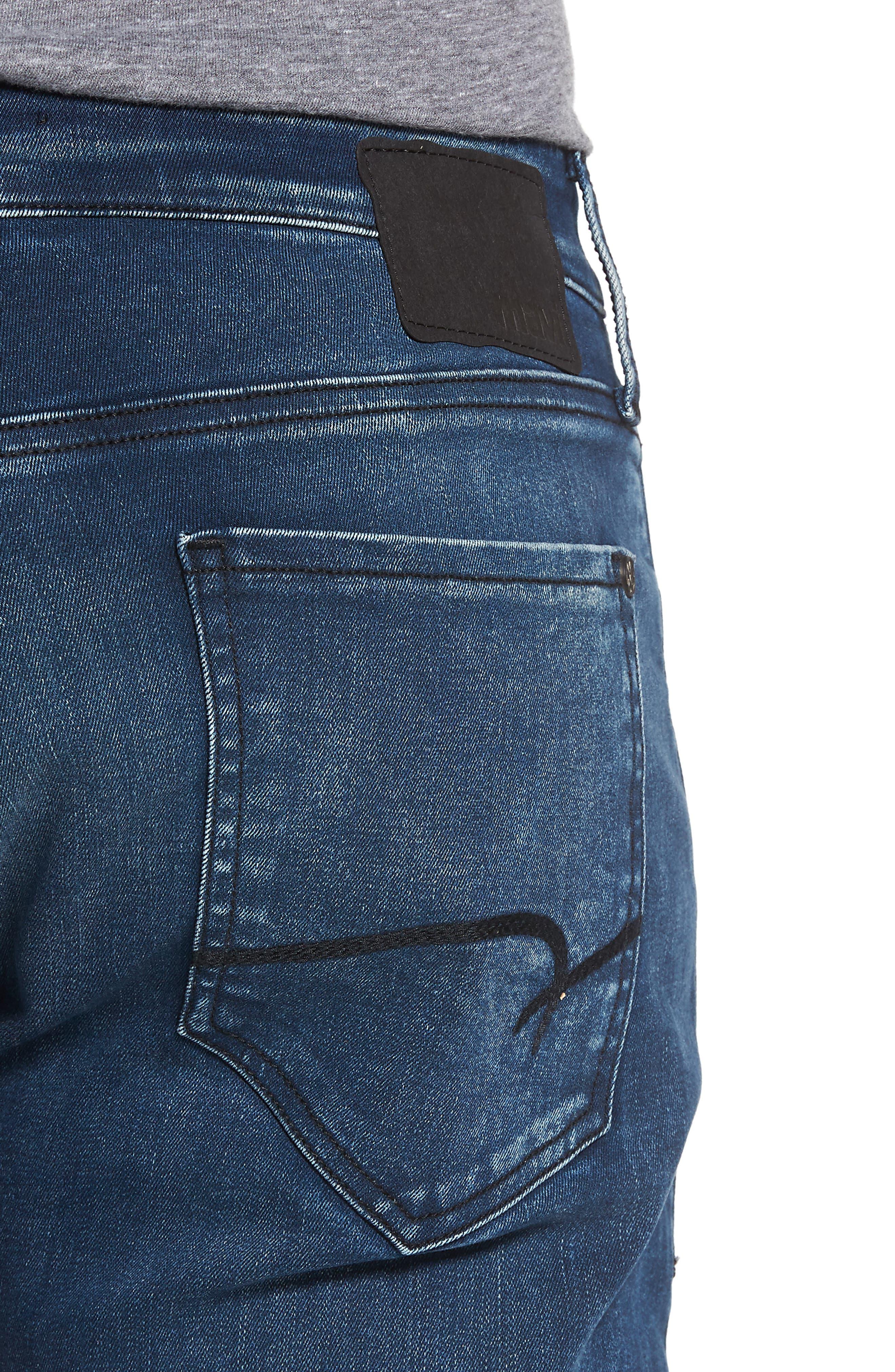 Marcus Slim Straight Leg Jeans,                             Alternate thumbnail 4, color,                             Forest Blue Williamsburg