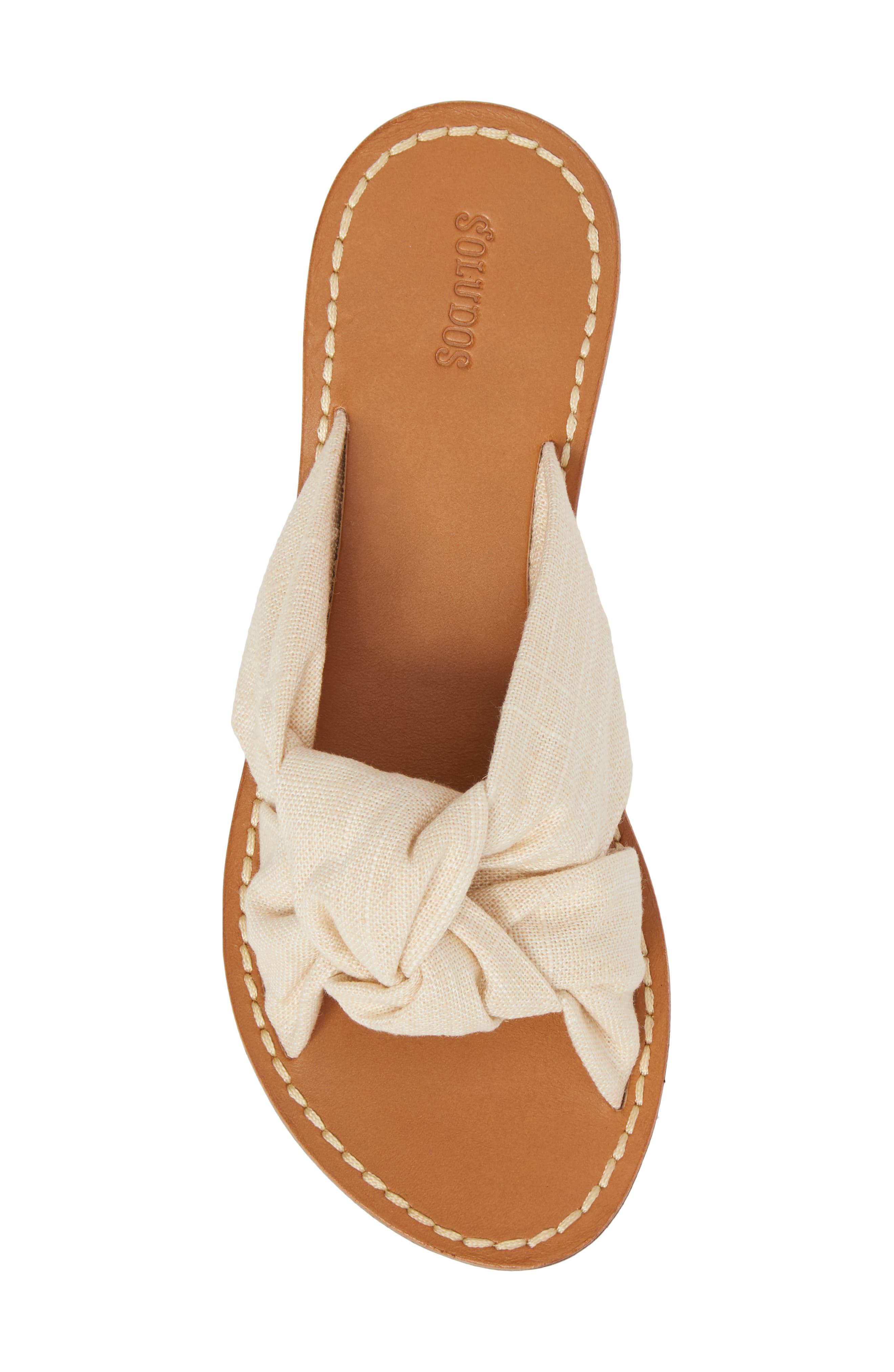Knotted Slide Sandal,                             Alternate thumbnail 5, color,                             Blush Fabric
