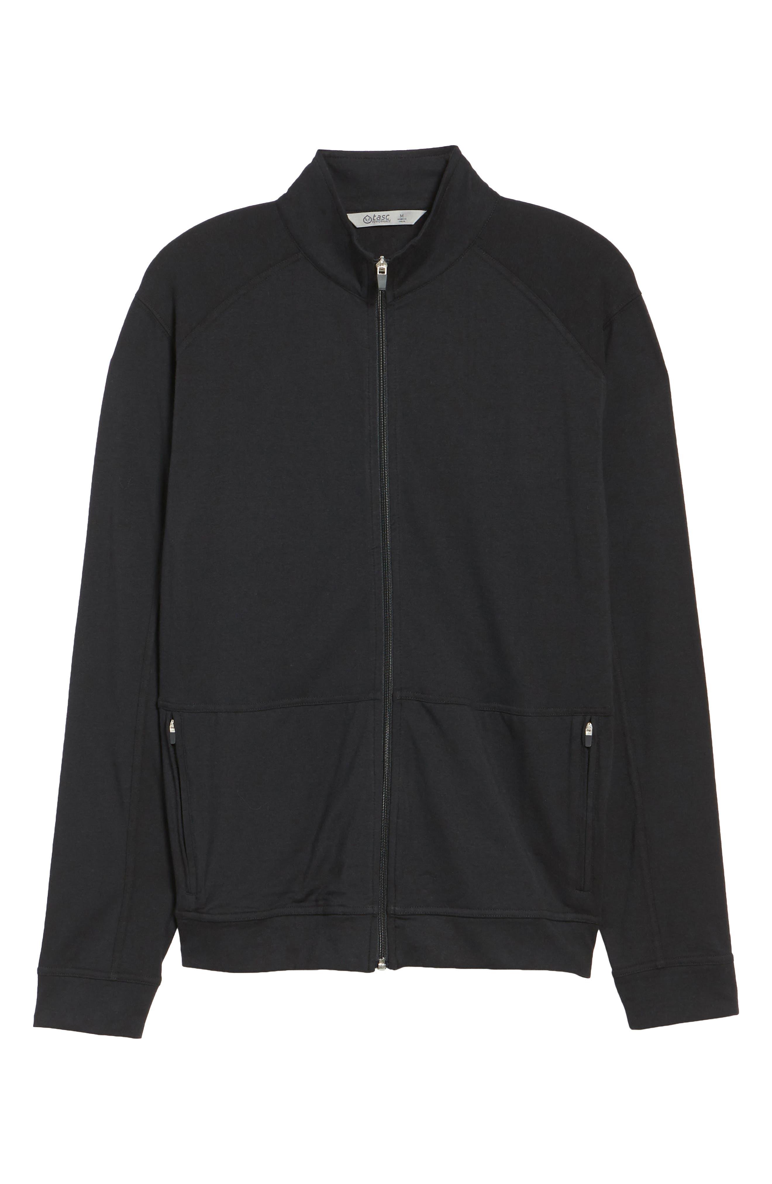 Carrollton Zip Jacket,                             Alternate thumbnail 6, color,                             Black