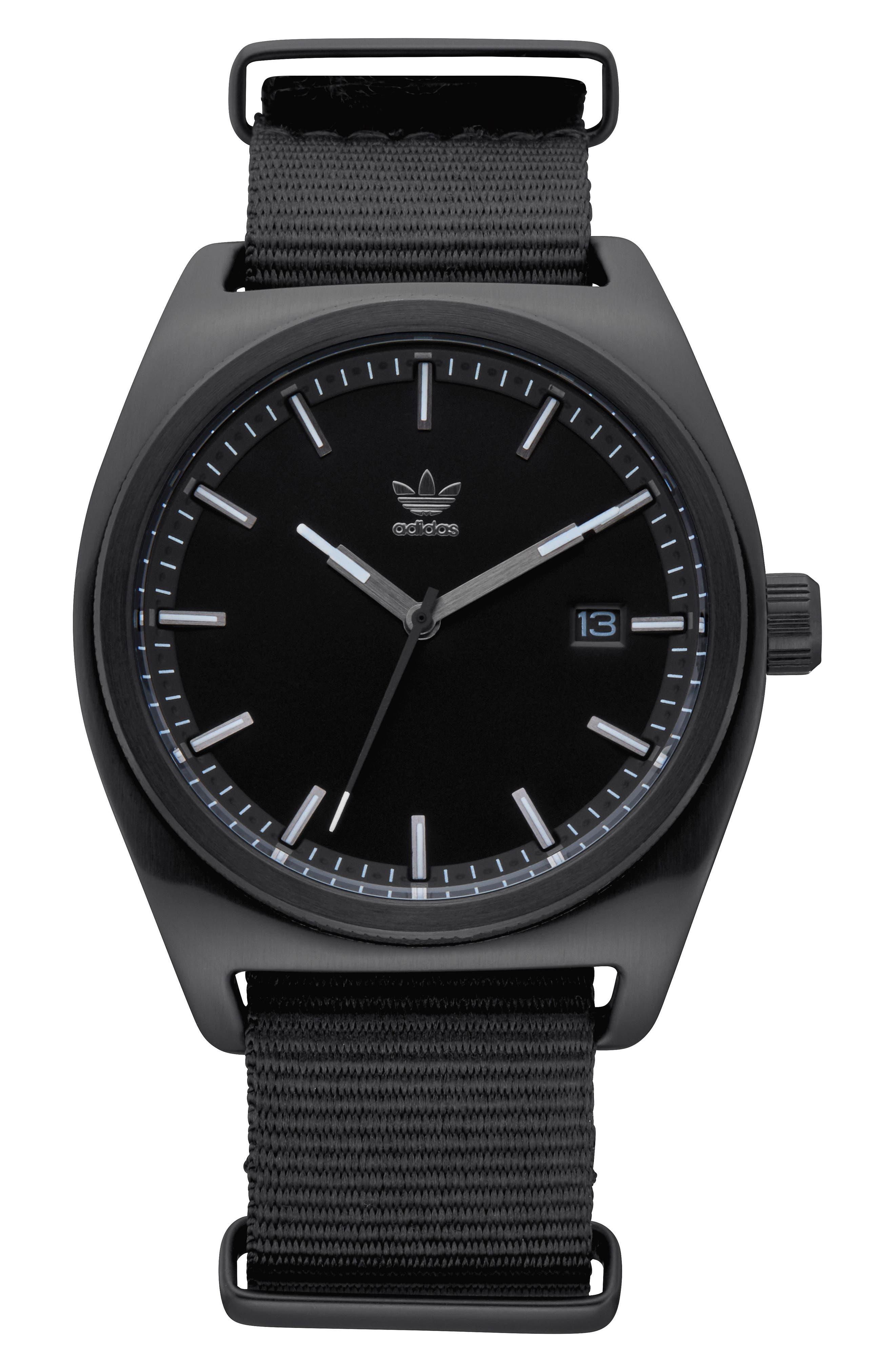 Process NATO Strap Watch, 38mm,                         Main,                         color, Gunmetal/ Black