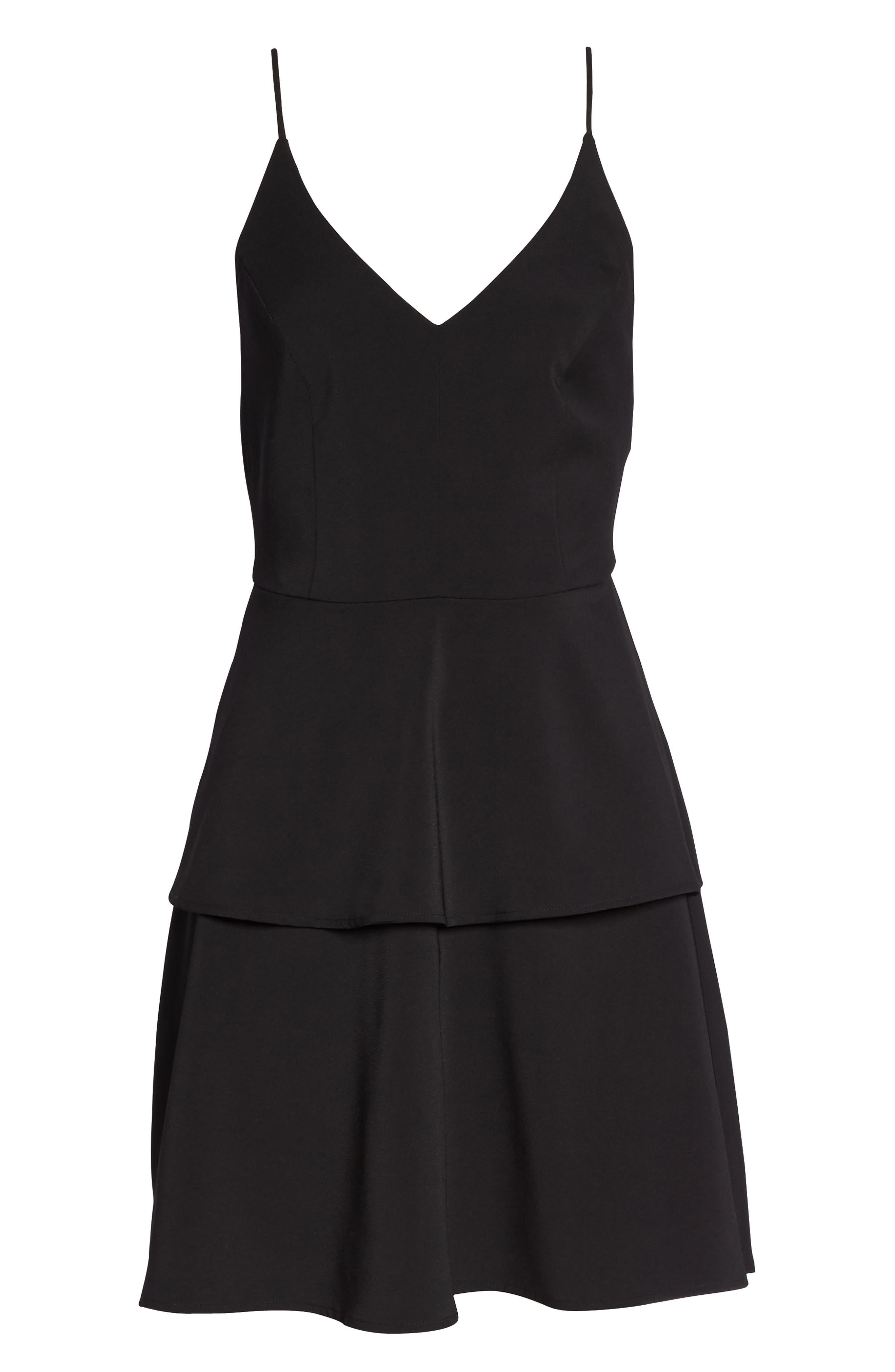 Tamika Sleeveless Fit & Flare Dress,                             Alternate thumbnail 7, color,                             Black