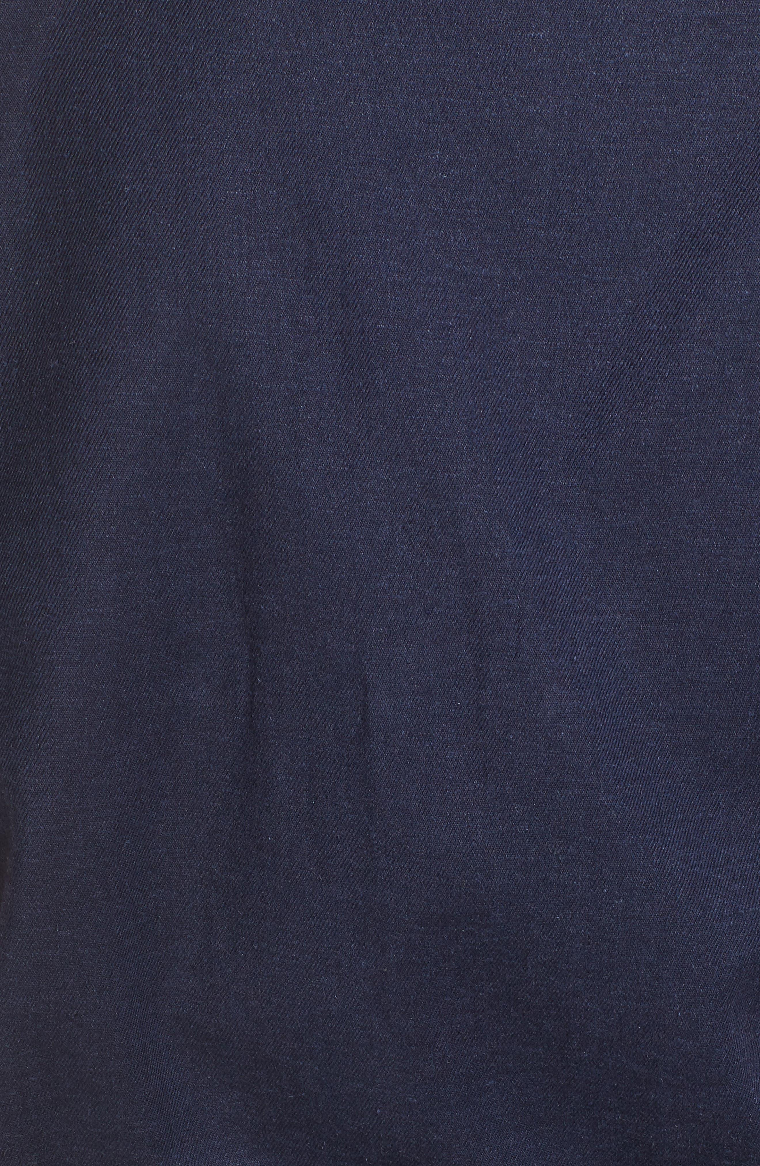 Linen Blend Romper,                             Alternate thumbnail 6, color,                             Navy
