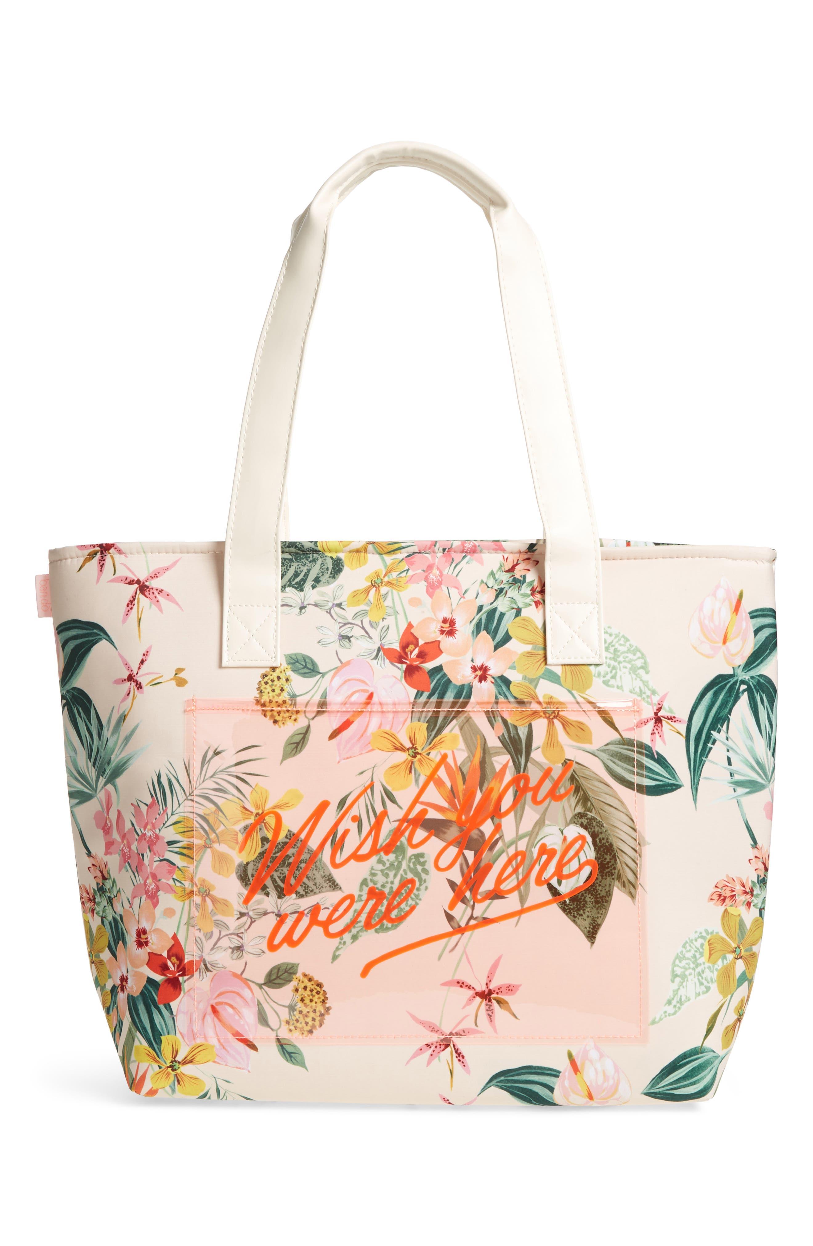 Paradiso Cooler Bag,                             Main thumbnail 1, color,                             Cream