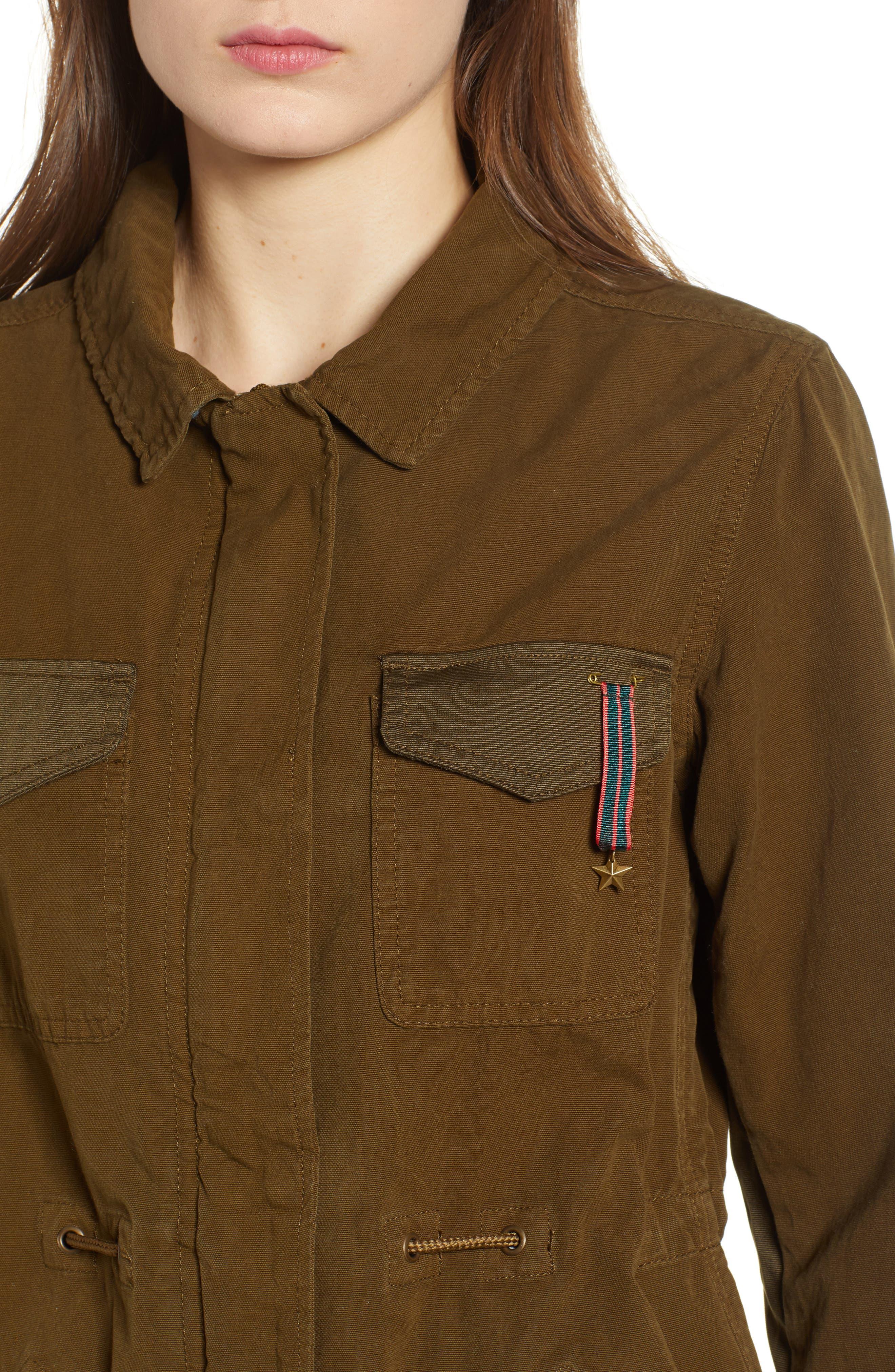 Safari Jacket,                             Alternate thumbnail 4, color,                             Color 15 Army