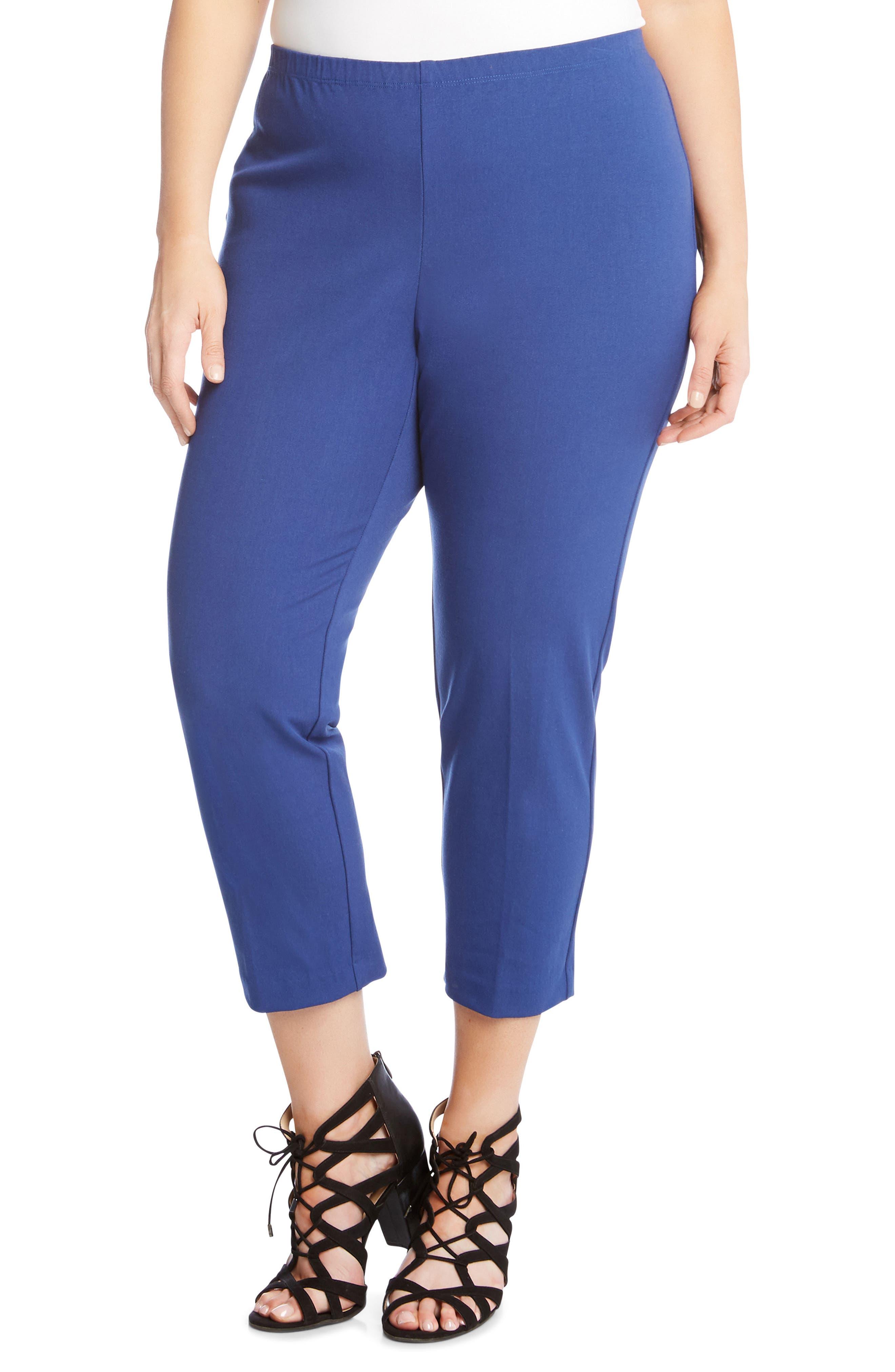 Alternate Image 1 Selected - Karen Kane Piper Skinny Ankle Pants (Plus Size)