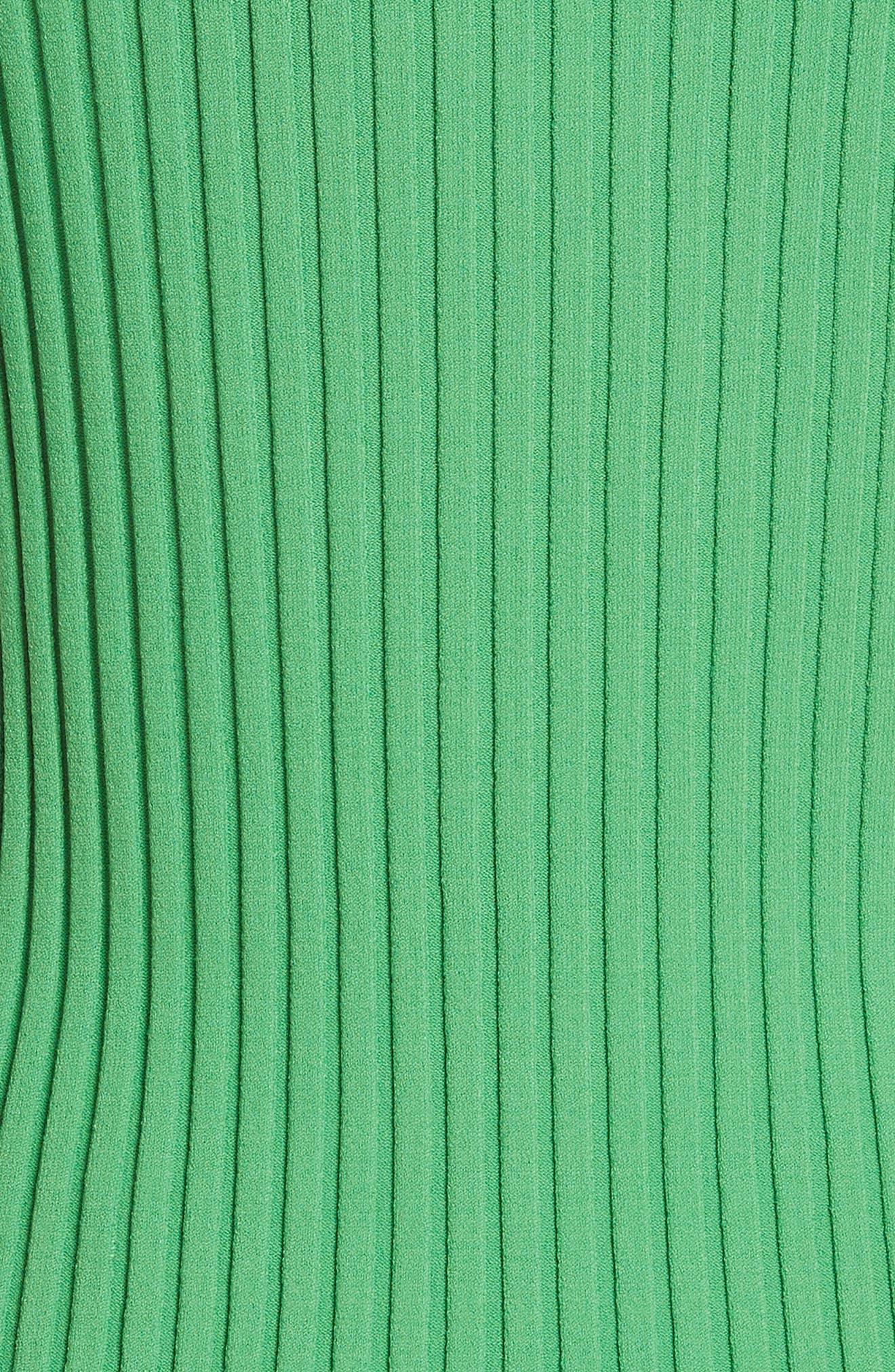 Diane von Furstenberg Ribbed Shell,                             Alternate thumbnail 5, color,                             Palm