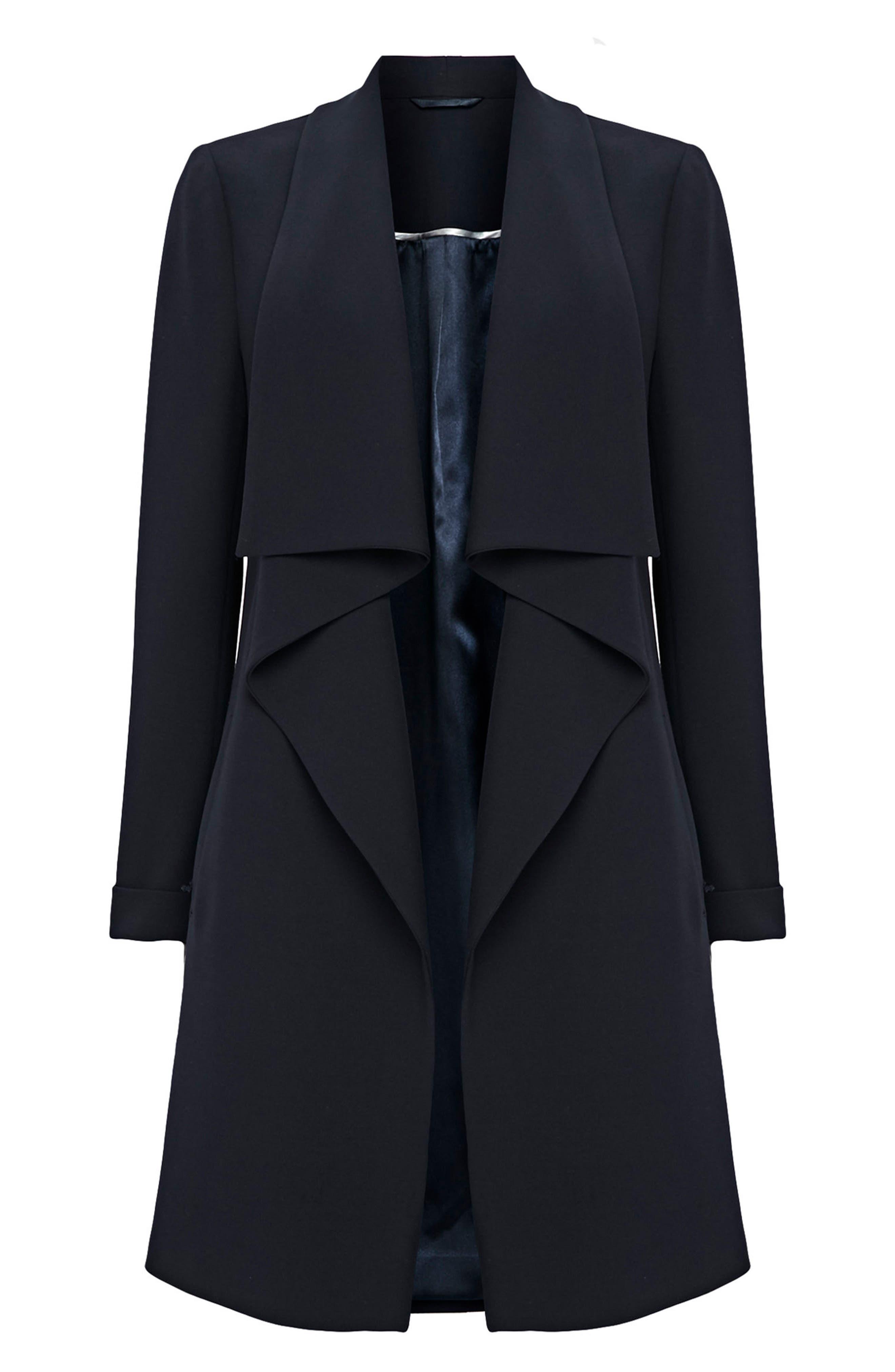 New Scuba Waterfall Coat,                         Main,                         color, Navy Blue
