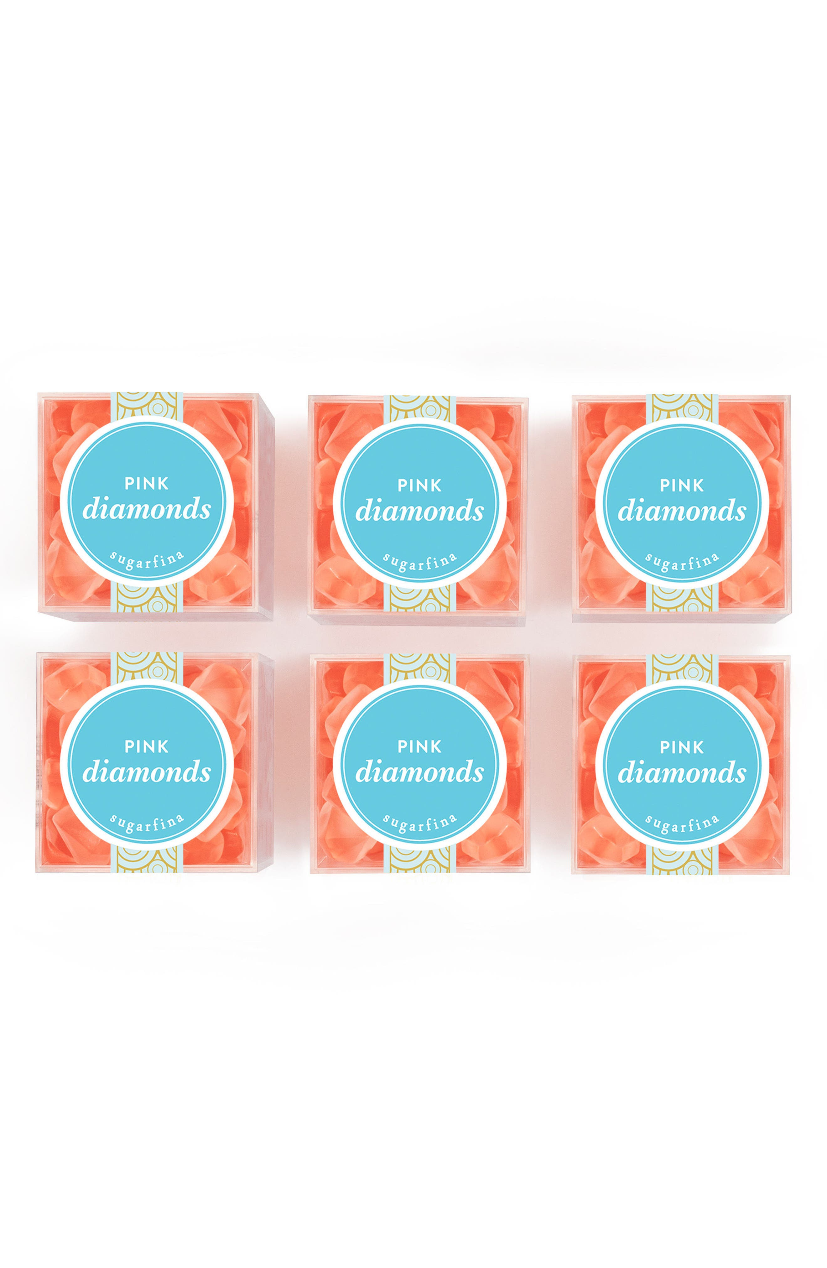 6-Pack Pink Diamonds Candy,                         Main,                         color, Pink