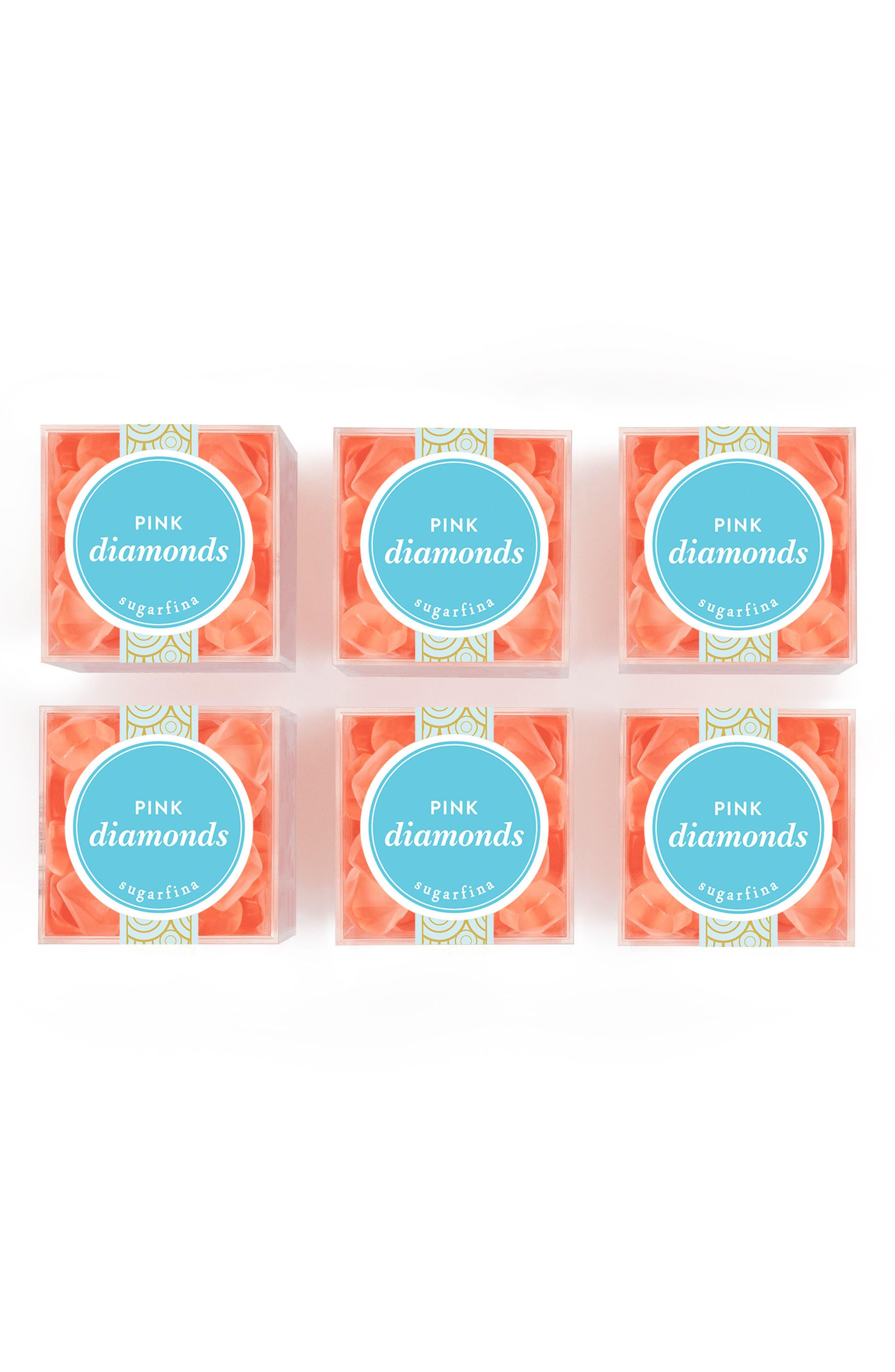 Sugarfina 6-Pack Pink Diamonds Candy