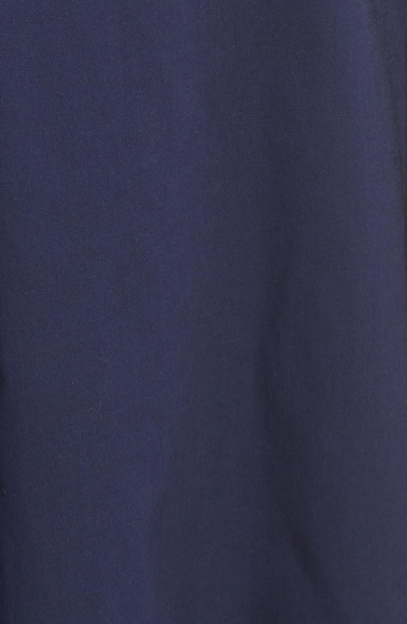 Rose Sleeveless Cotton Poplin Shirtdress,                             Alternate thumbnail 7, color,                             Navy