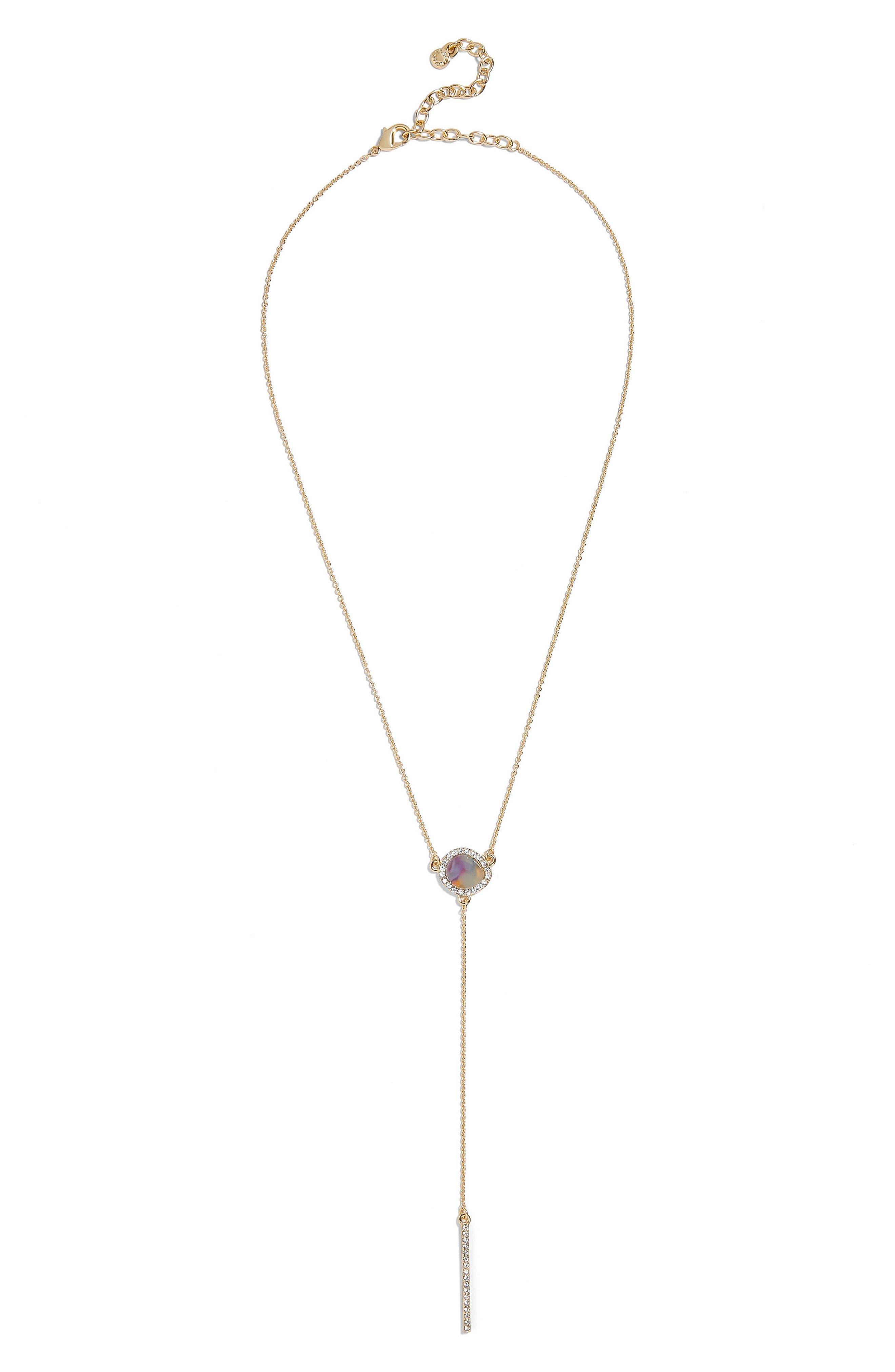 Elsha Chain Y-Necklace,                             Alternate thumbnail 2, color,                             Blush