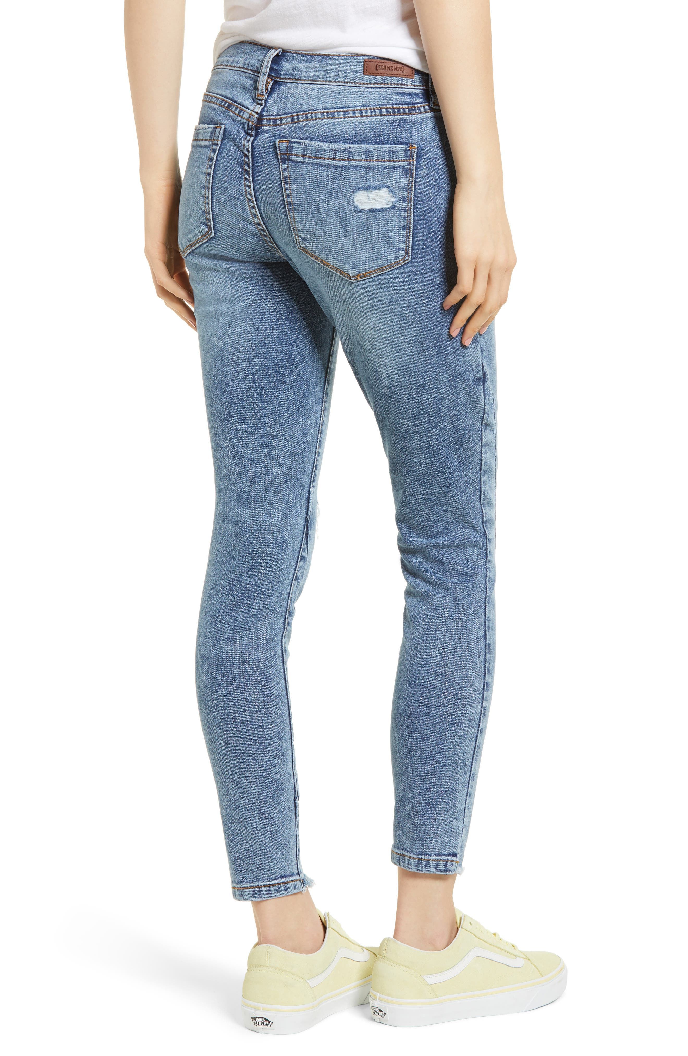 The Reade Seam Detail Skinny Jeans,                             Alternate thumbnail 2, color,                             Burn Notice
