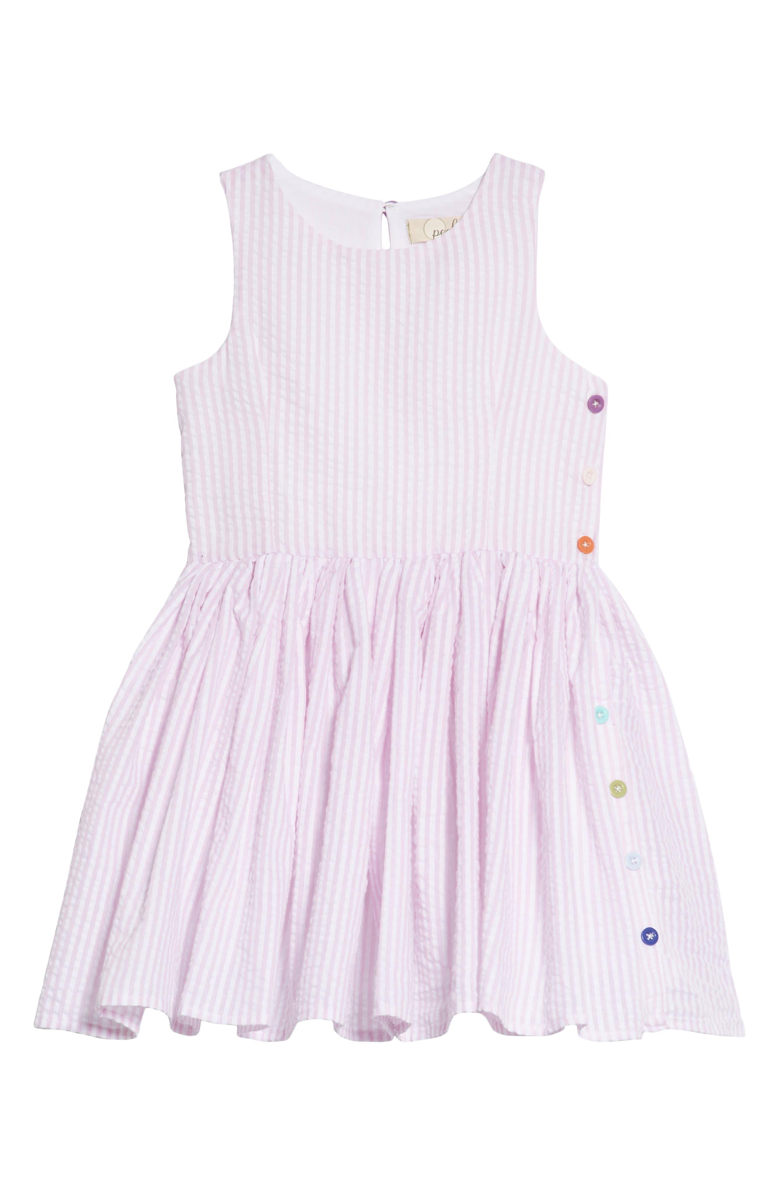 Belinda Seersucker Dress,                         Main,                         color, Lavender