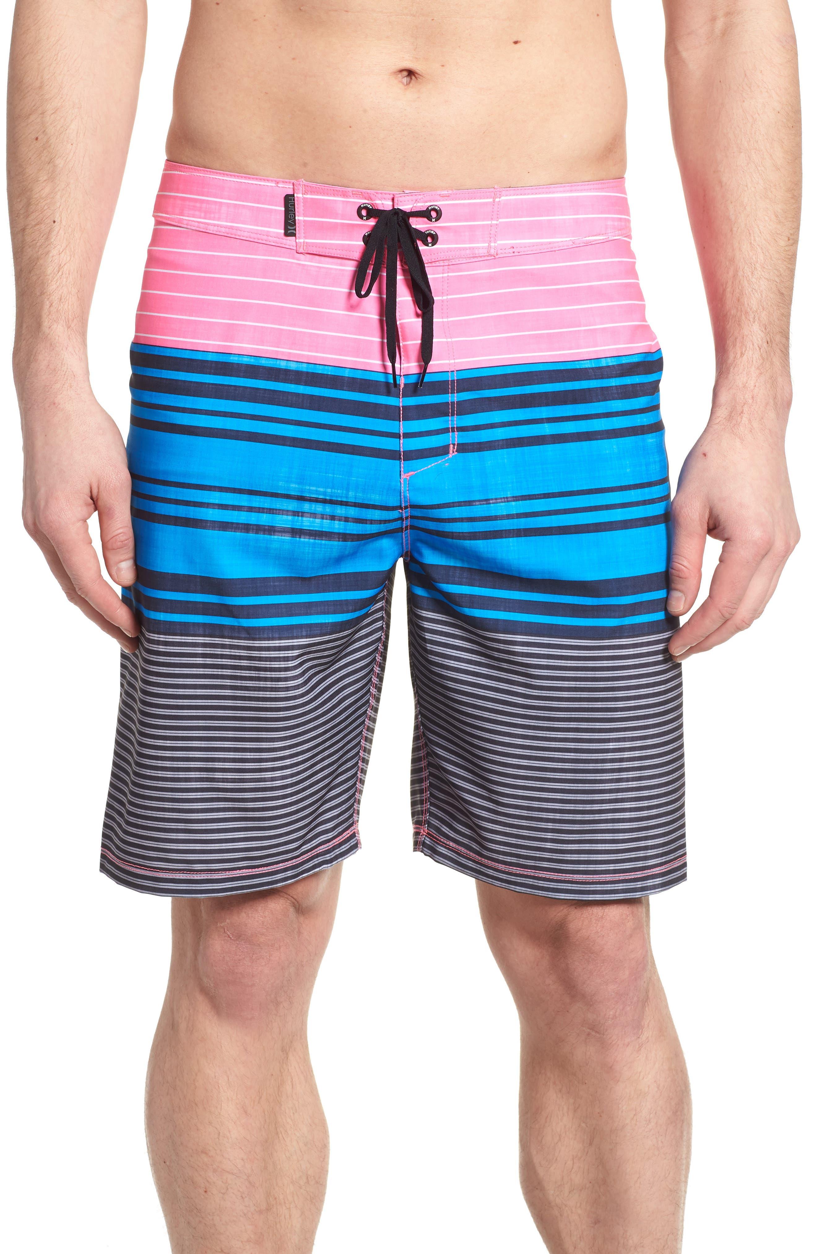 Strands Board Shorts,                             Main thumbnail 1, color,                             Photo Blue