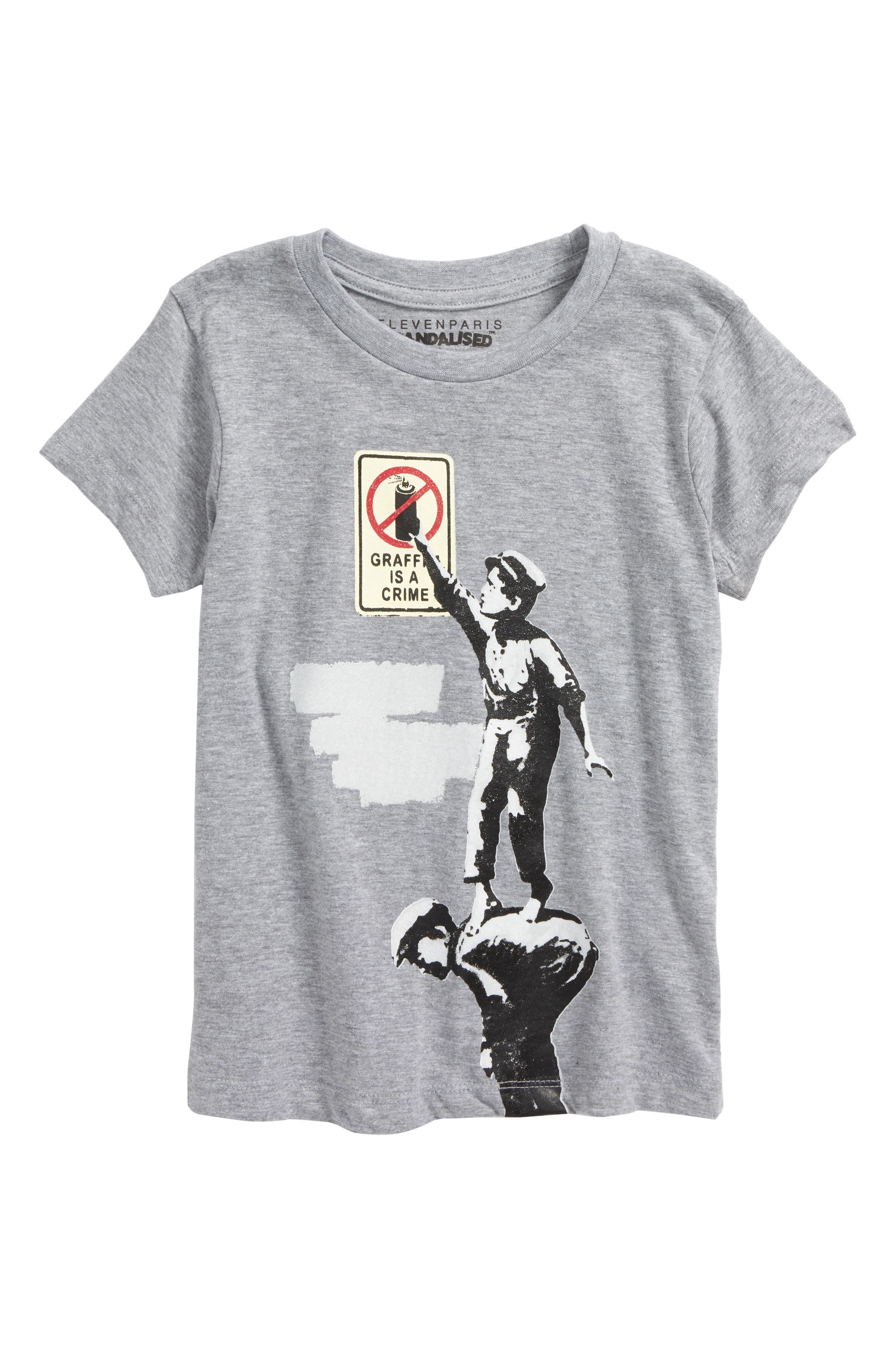 Maffiti Graphic T-Shirt,                         Main,                         color, Grey