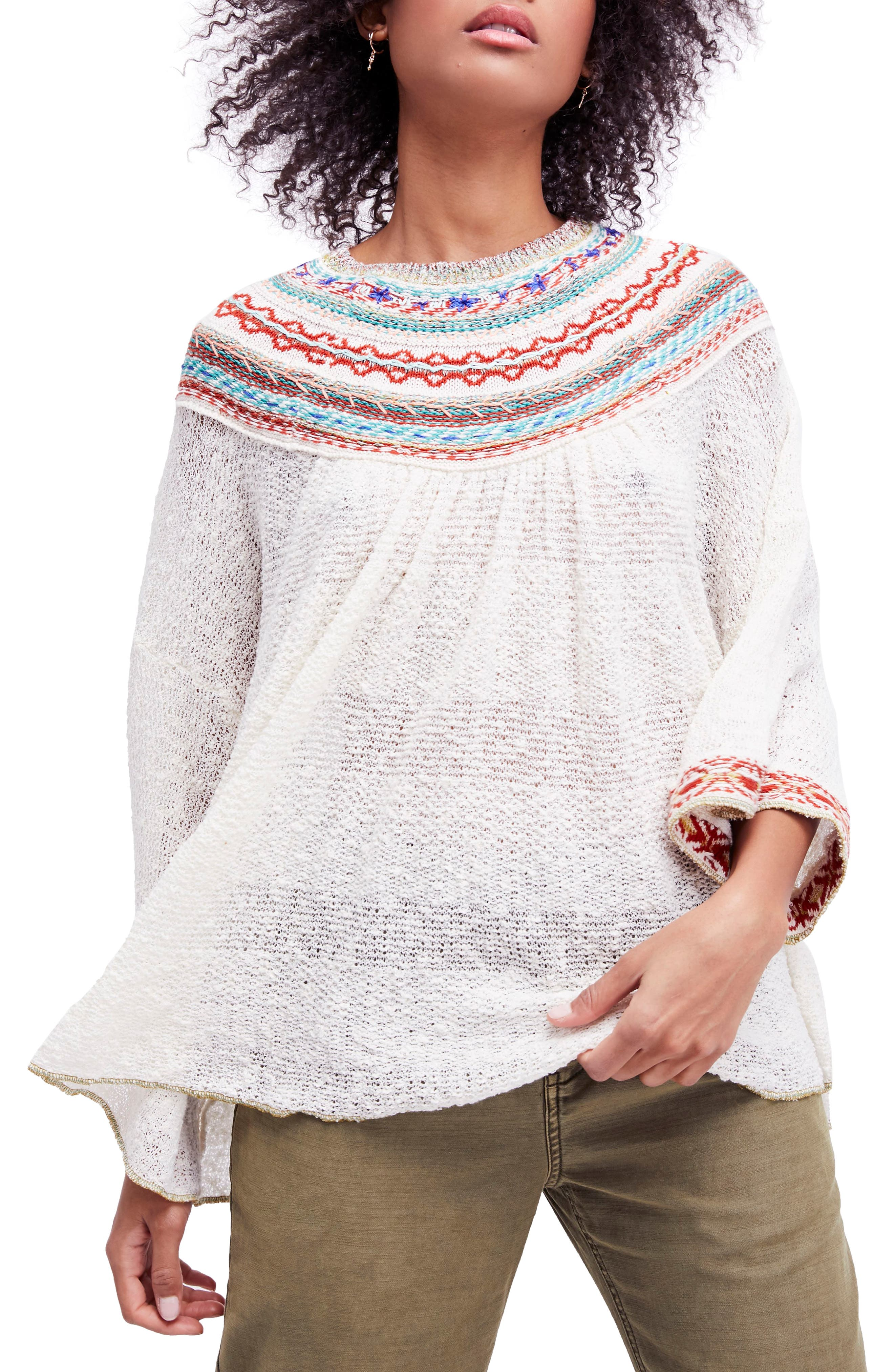 Vacation Sweater,                             Main thumbnail 1, color,                             Ivory