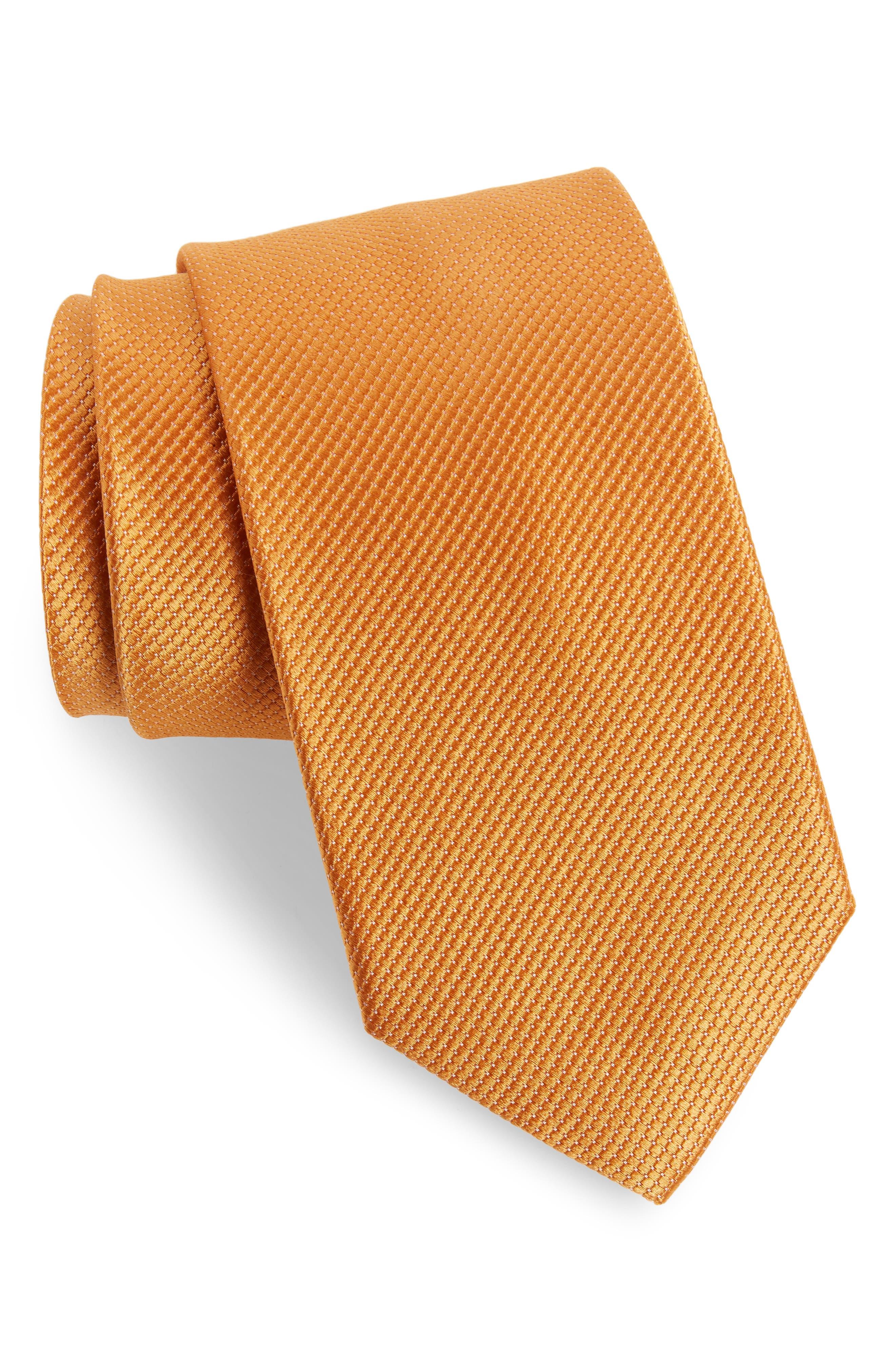 Nordstrom Men's Shop Vendome Dot Silk Tie (X-Long)