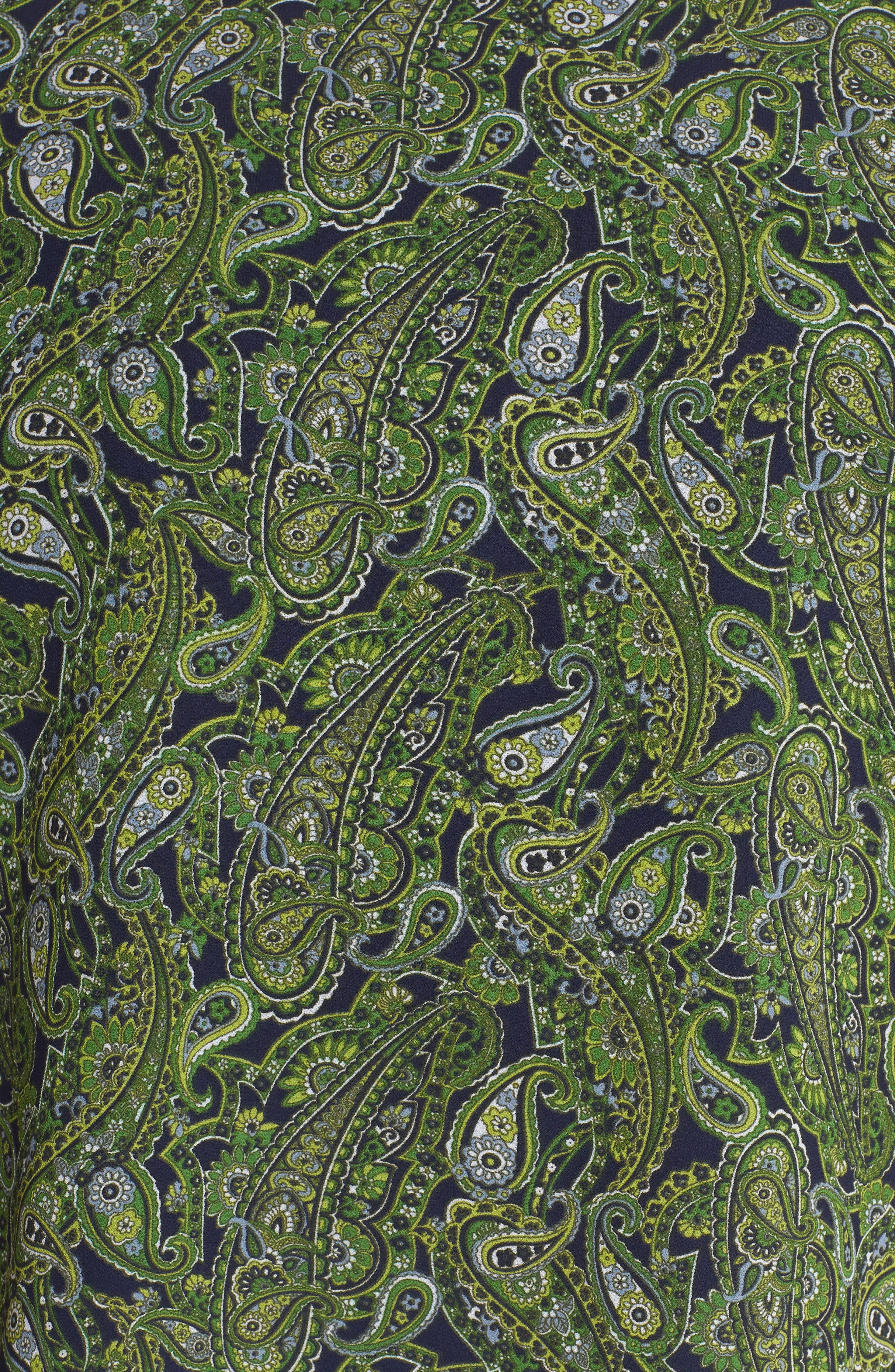 Paisley Paradise Layered Top,                             Alternate thumbnail 6, color,                             True Navy/ Green Apple Mu
