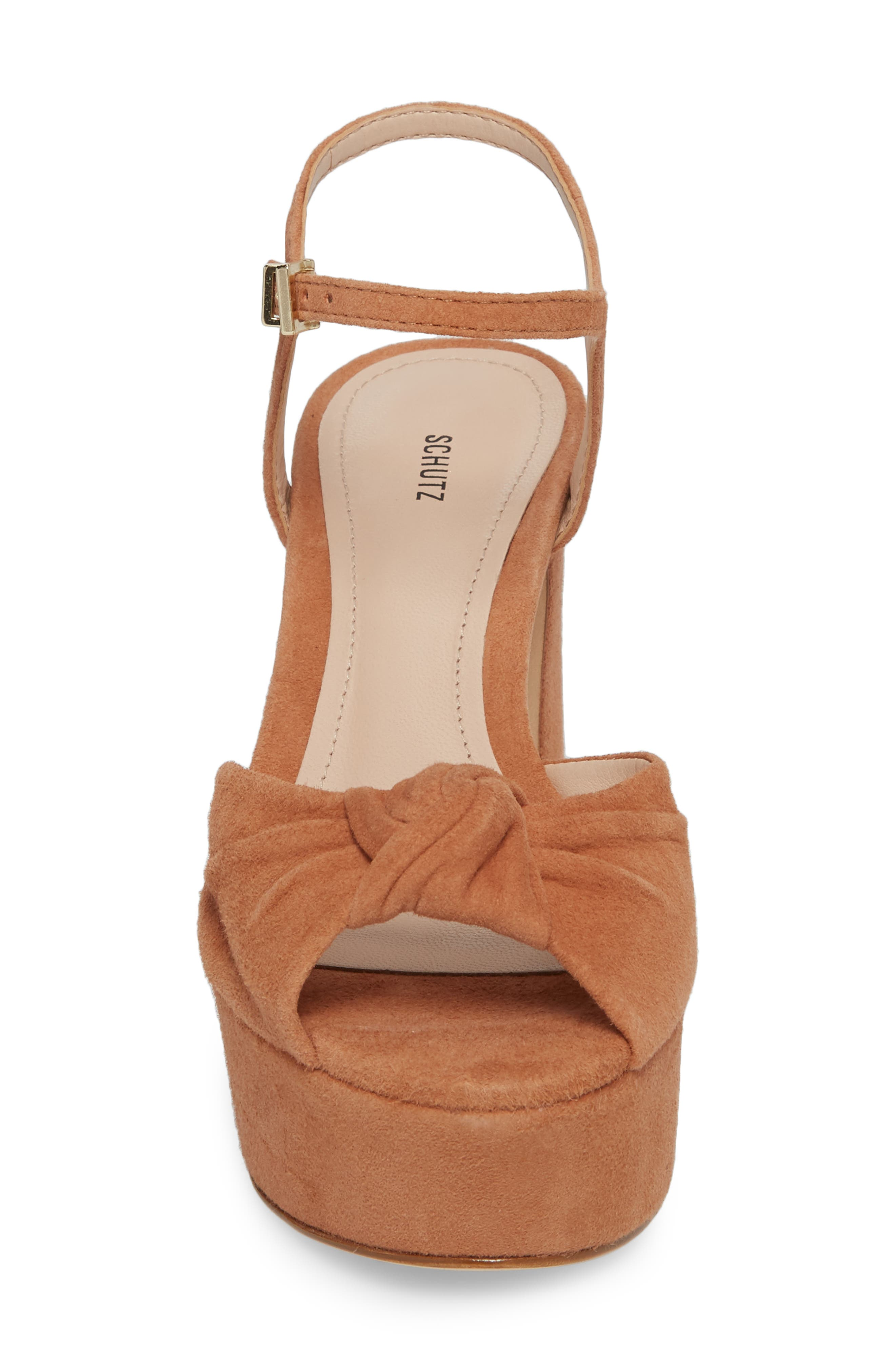 Thalyta Platform Sandal,                             Alternate thumbnail 4, color,                             Toasted Nut