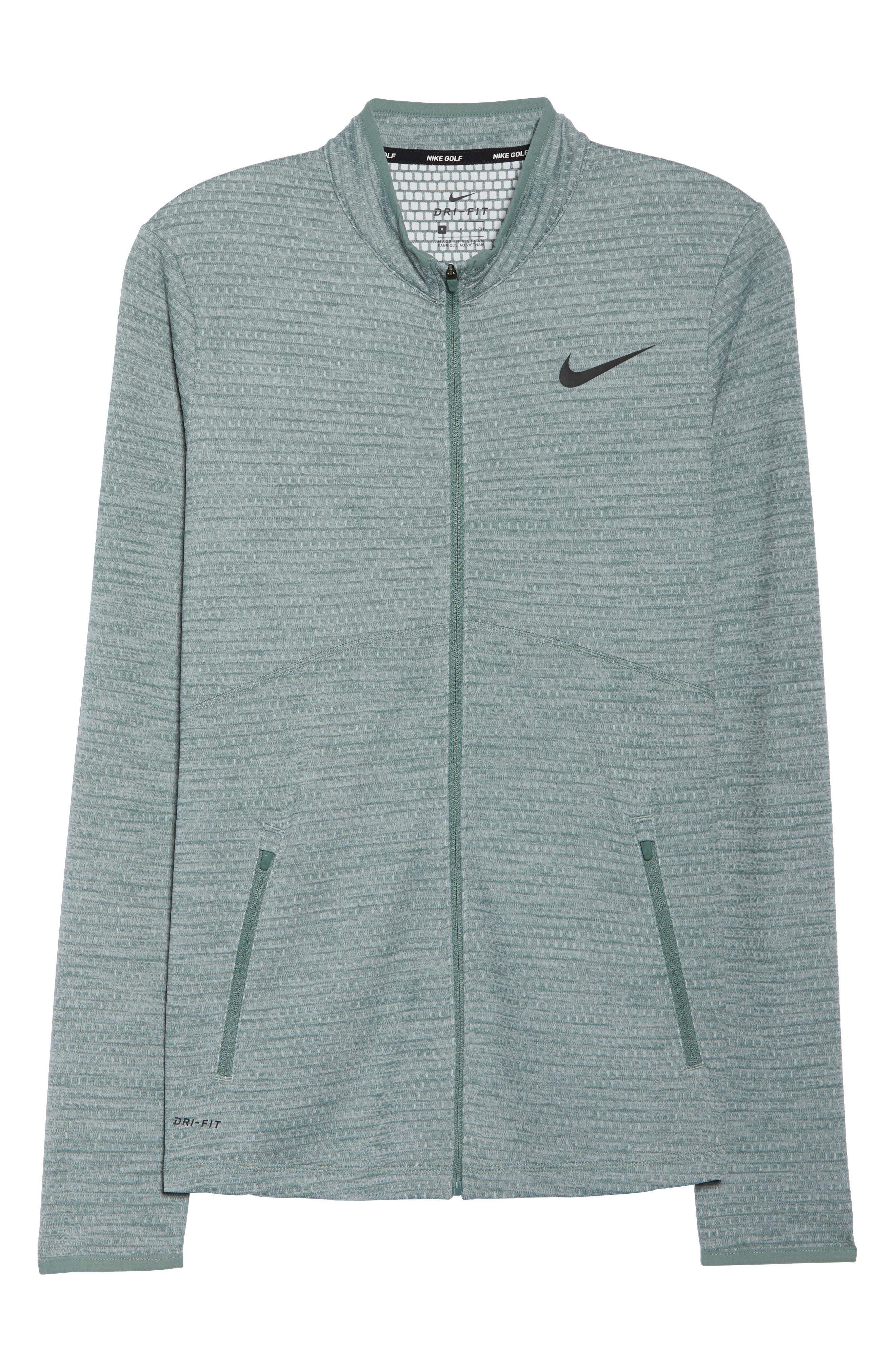 Dry Golf Jacket,                             Alternate thumbnail 7, color,                             Clay Green/ Black