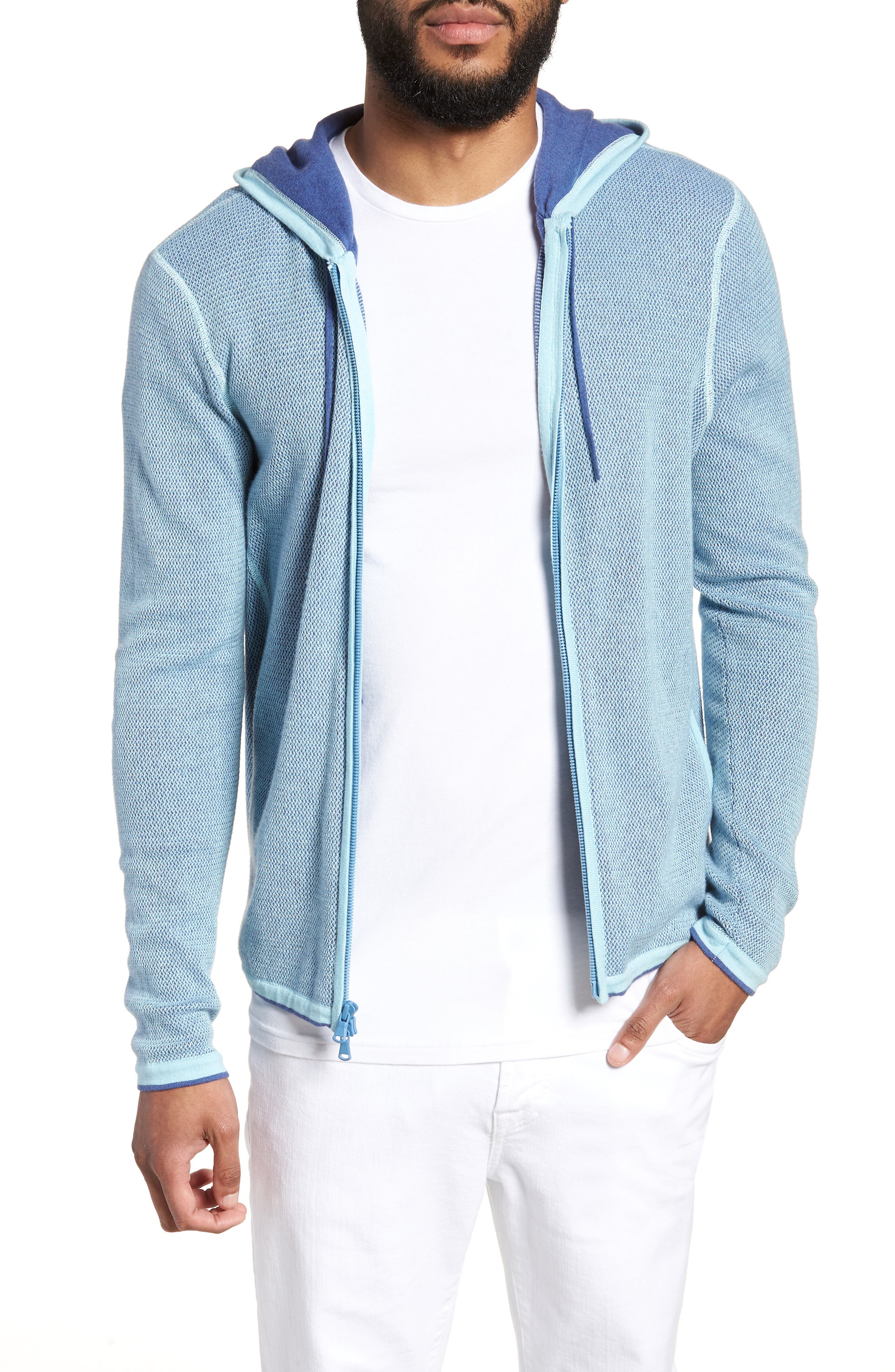 Zachary Prell Lemmon Cotton & Cashmere Zip Hoodie