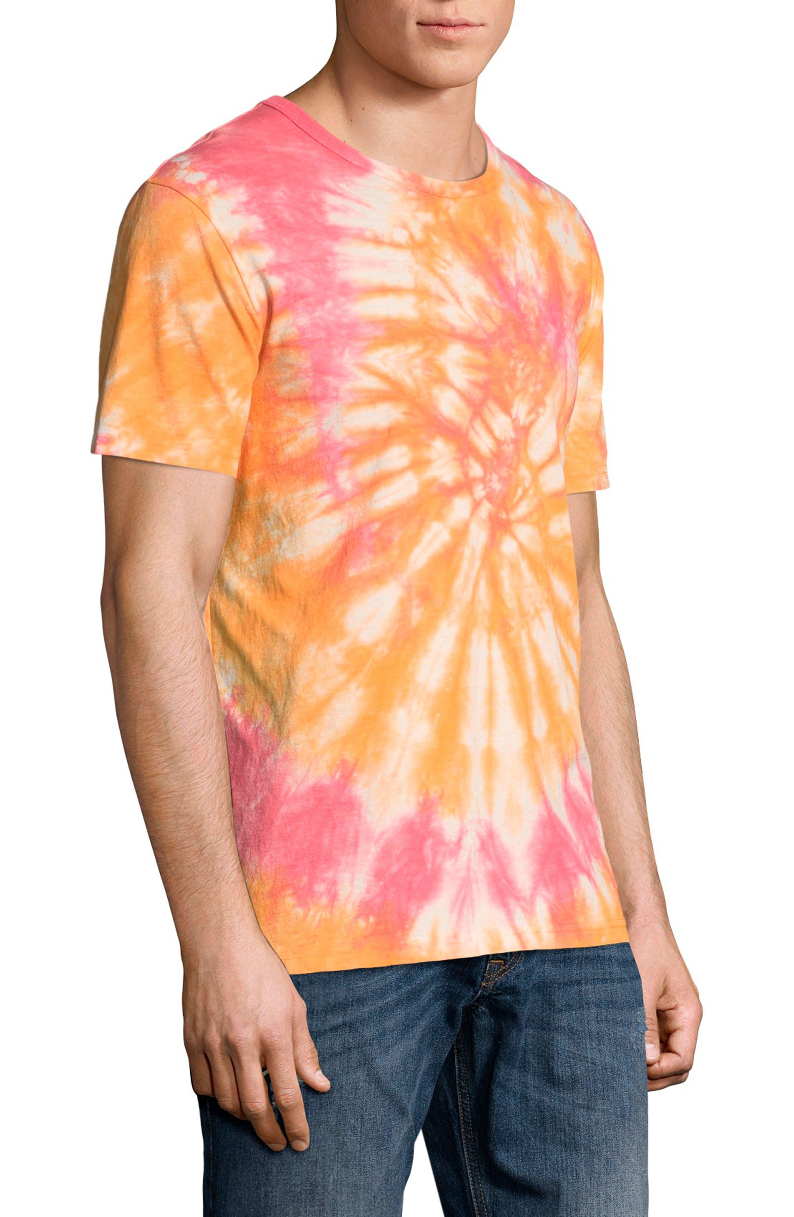 Tie Dye Jersey T-Shirt,                             Alternate thumbnail 3, color,                             Glazed Orange