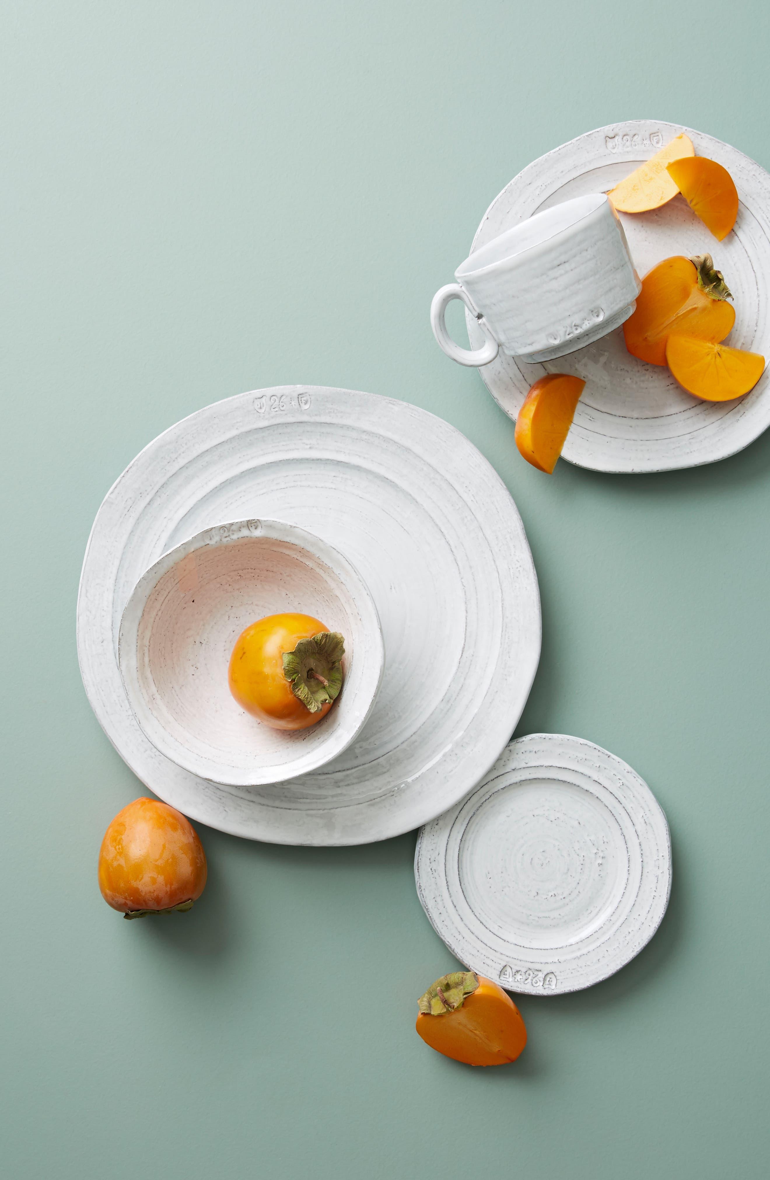 Glenna Earthenware Cereal Bowl,                             Alternate thumbnail 2, color,                             White