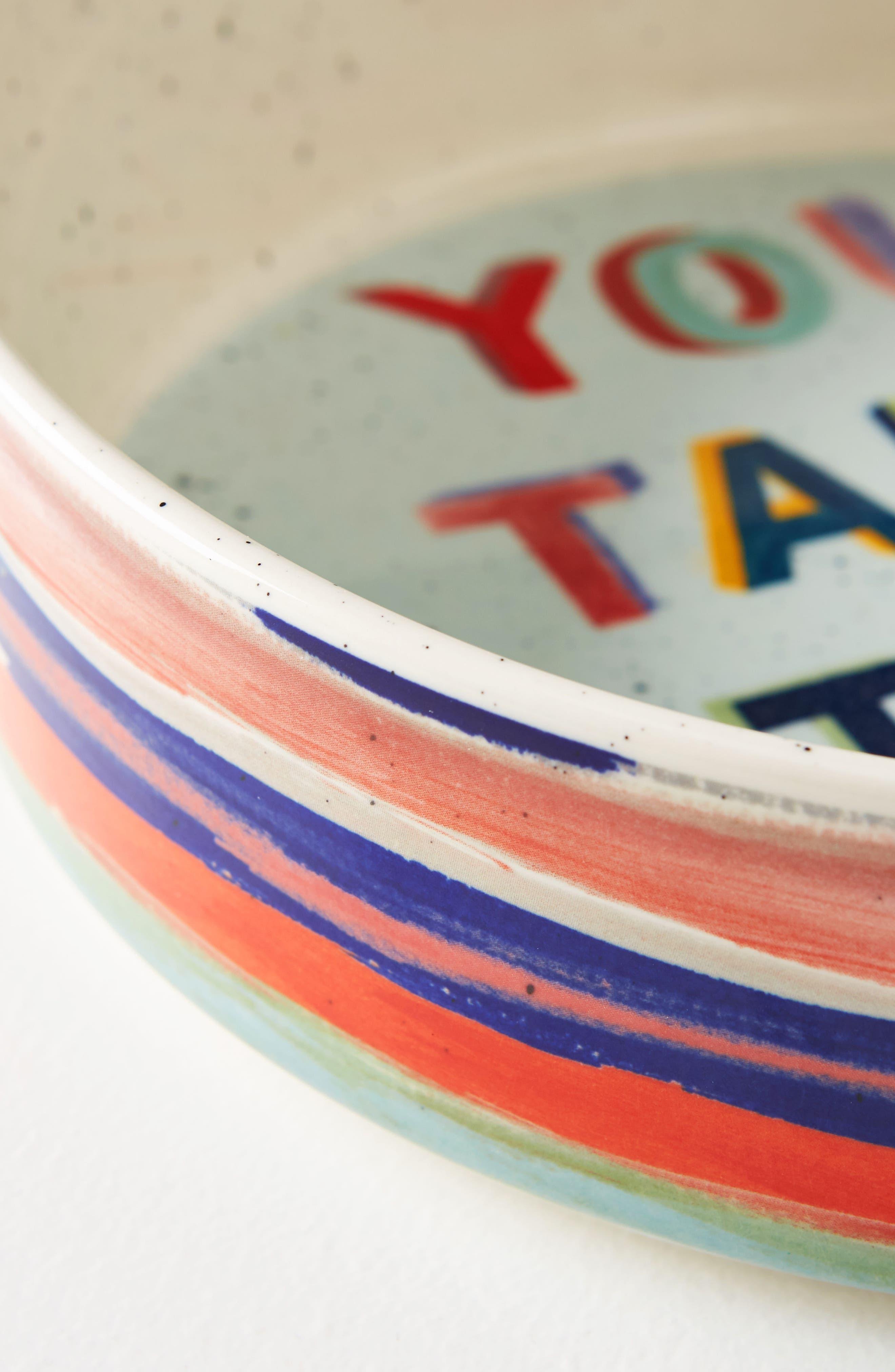 Painter's Palette Stoneware Pie Dish,                             Alternate thumbnail 2, color,                             White