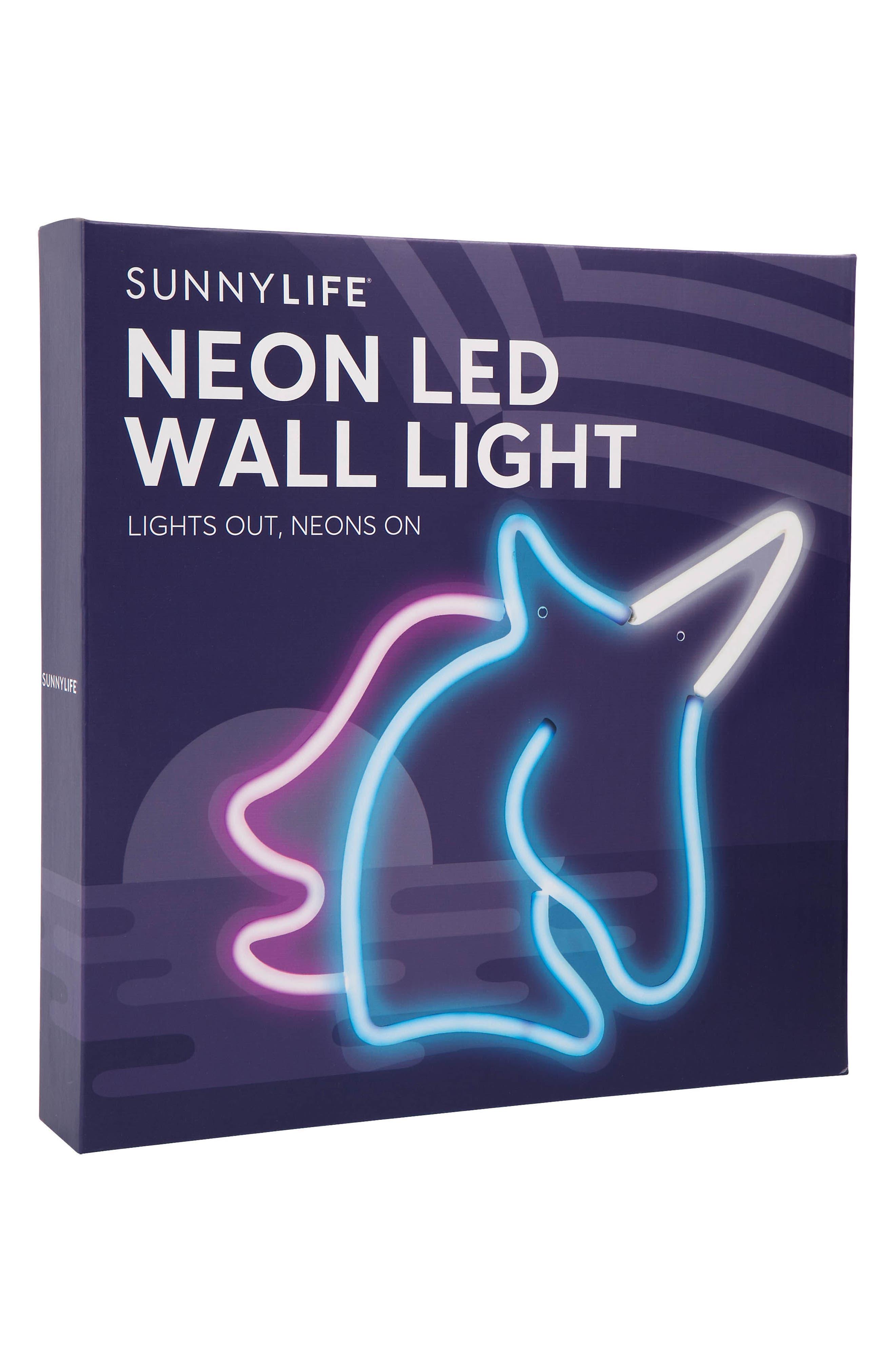 Small Unicorn Neon LED Wall Light,                             Alternate thumbnail 2, color,                             Blue Multi