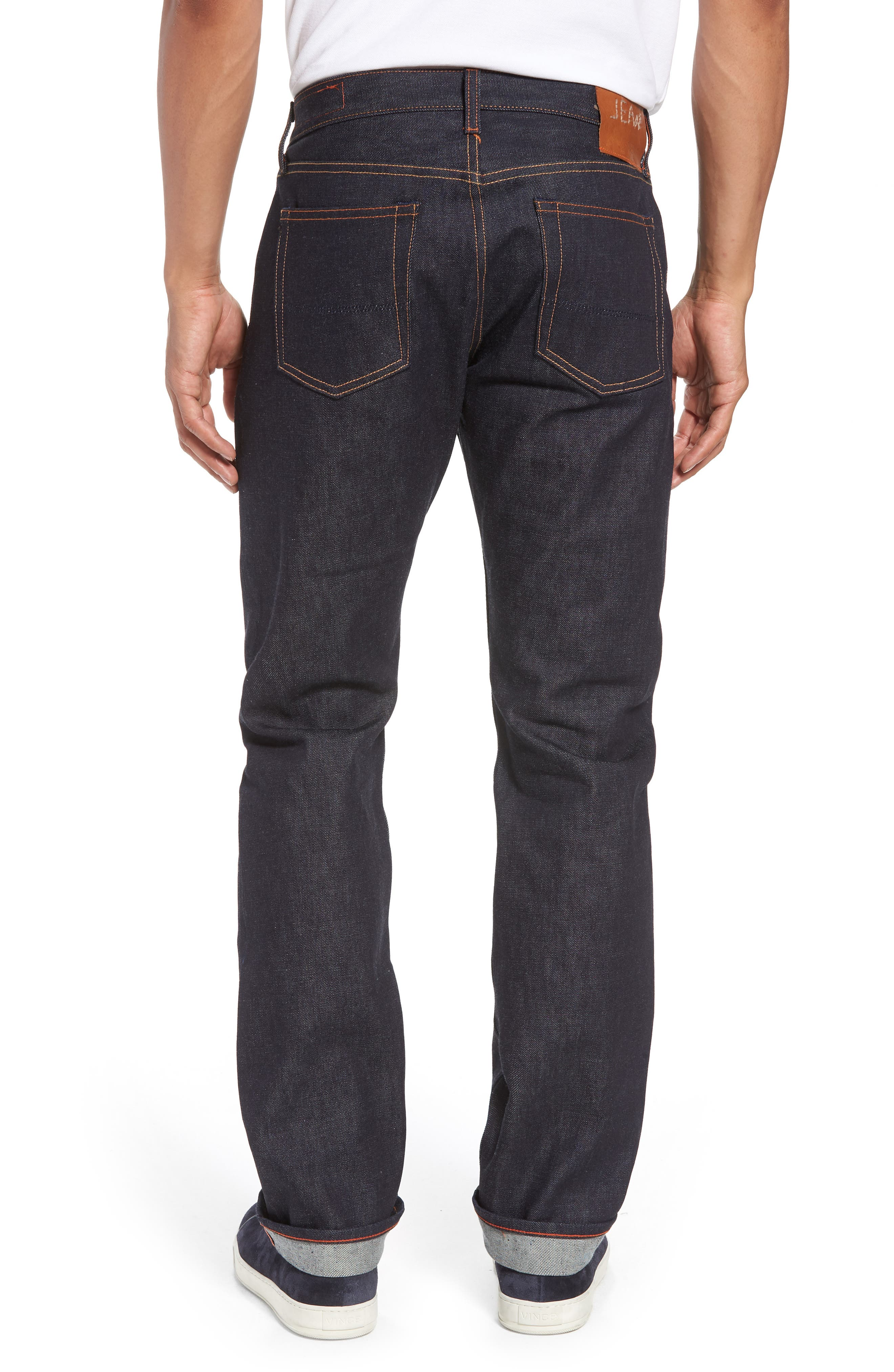 Bowie Slim Straight Leg Jeans,                             Alternate thumbnail 2, color,                             Raw