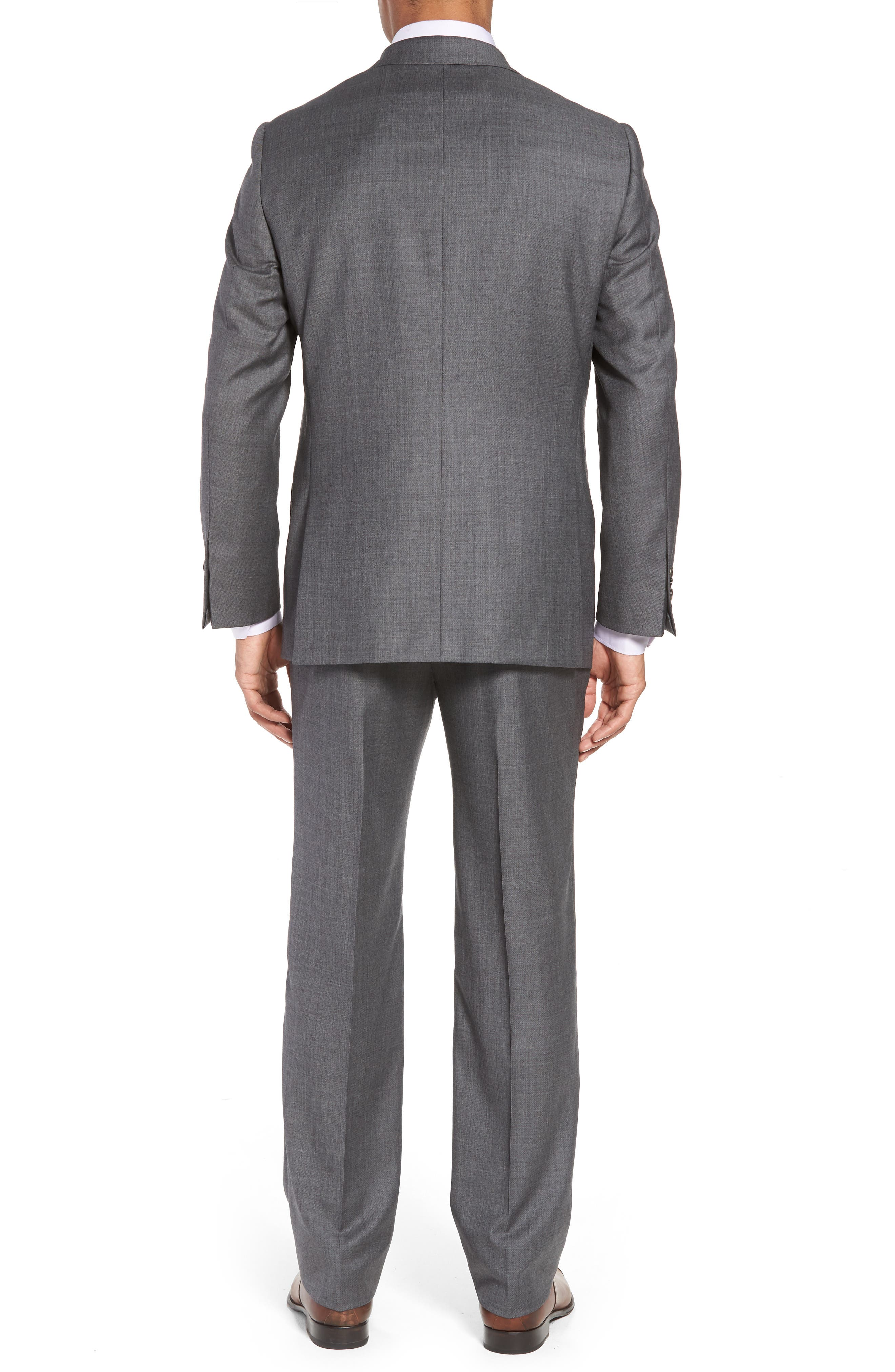 Classic B Fit Solid Wool Suit,                             Alternate thumbnail 2, color,                             Grey Sharkskin