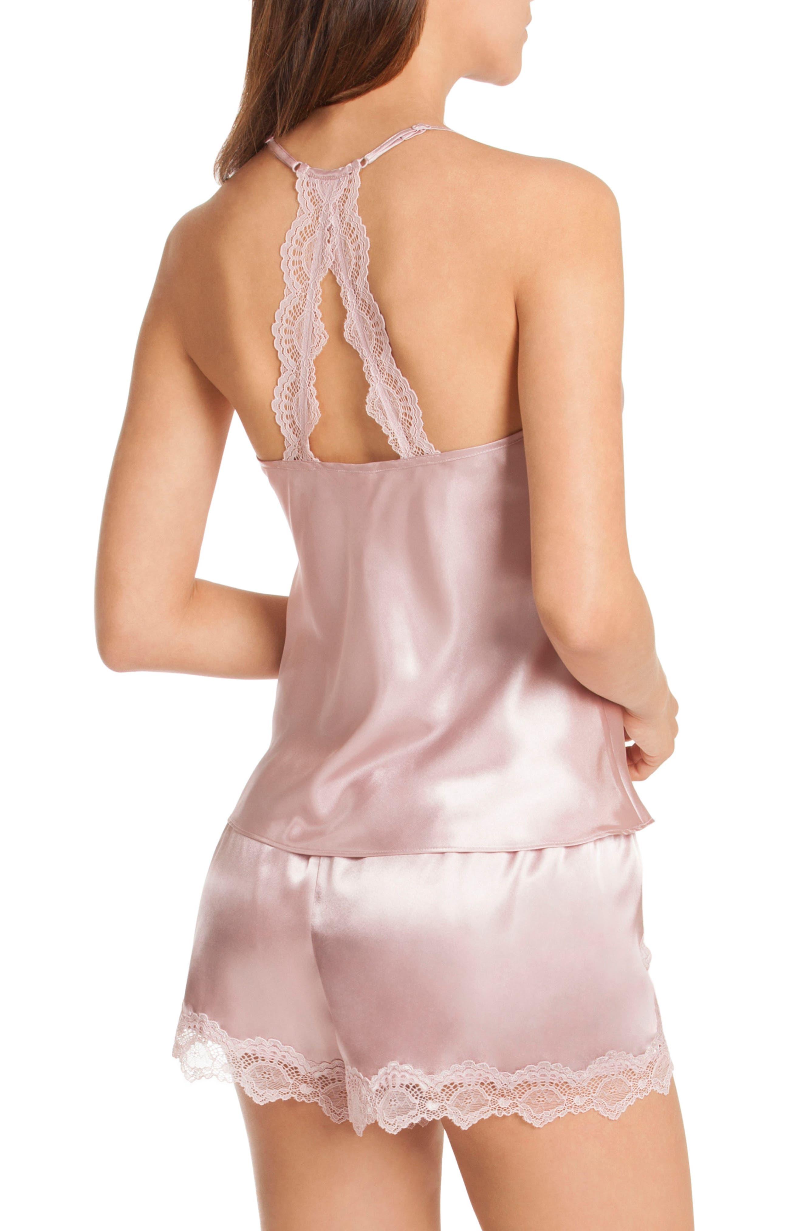 Satin Short Pajamas,                             Alternate thumbnail 2, color,                             Soft Orchid