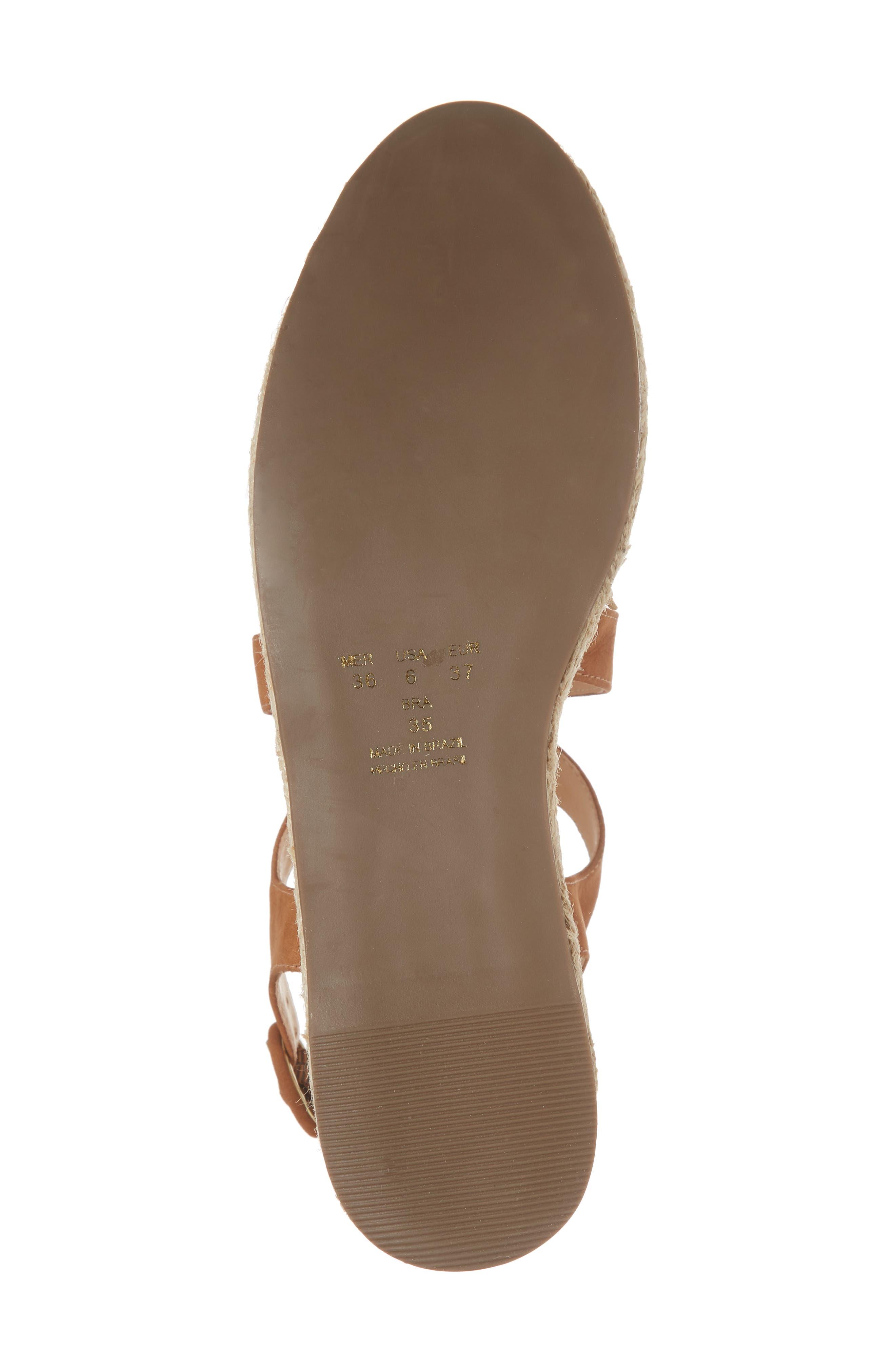 Vikki Espadrille Platform Sandal,                             Alternate thumbnail 6, color,                             Tan Leather