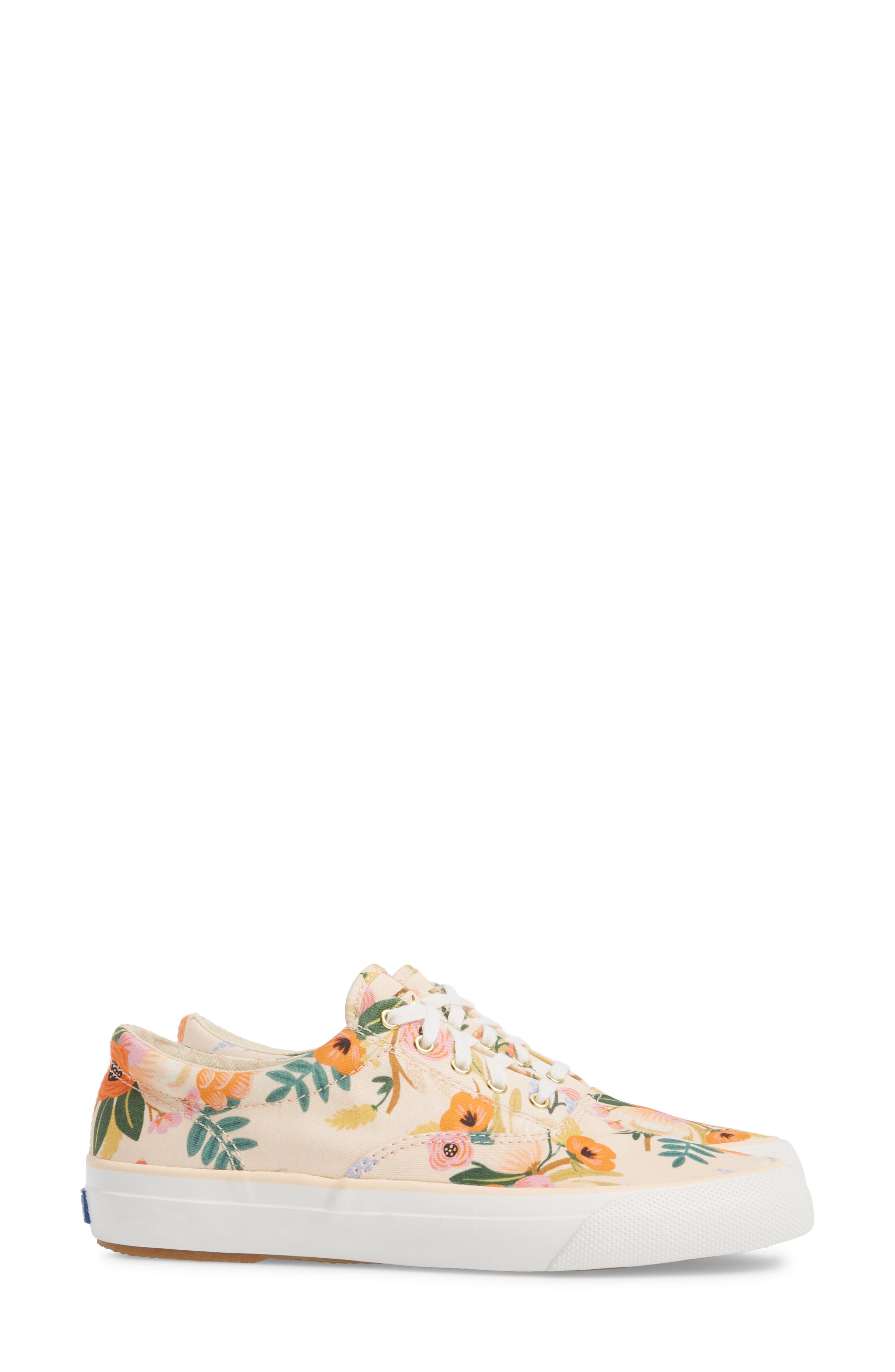 x Rifle Paper Co. Anchor Lively Floral Slip-On Sneaker,                             Alternate thumbnail 4, color,                             Pink