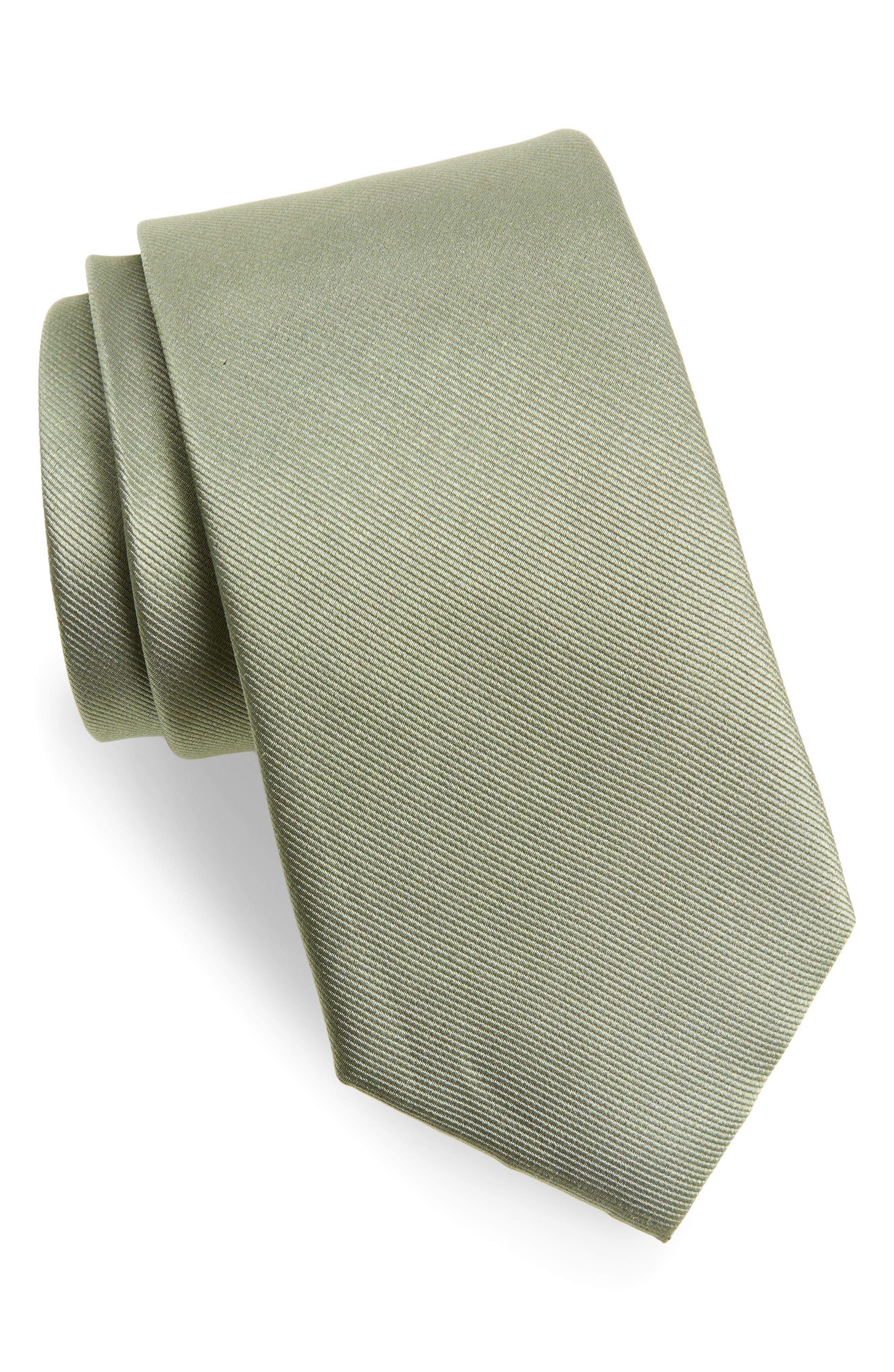 Main Image - The Tie Bar Solid Silk Tie (X-Long)