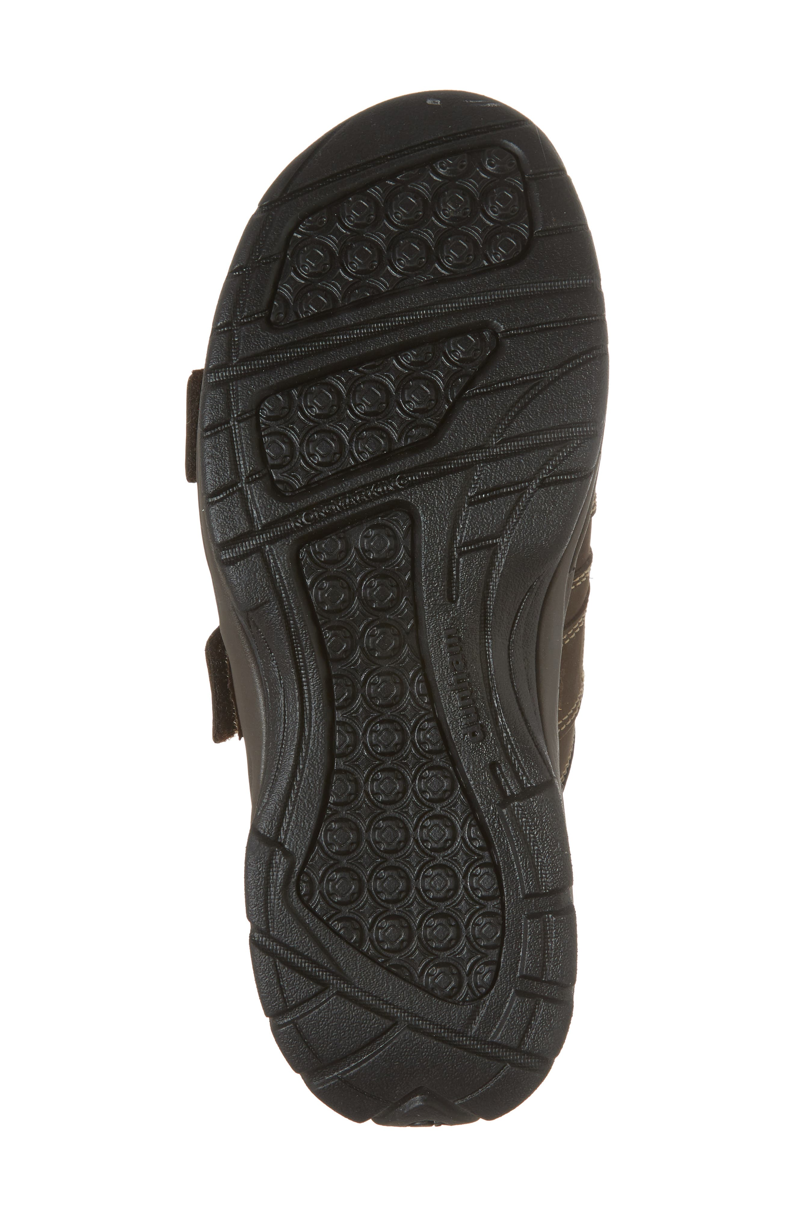 Newport Slide Sandal,                             Alternate thumbnail 6, color,                             Dark Brown Leather