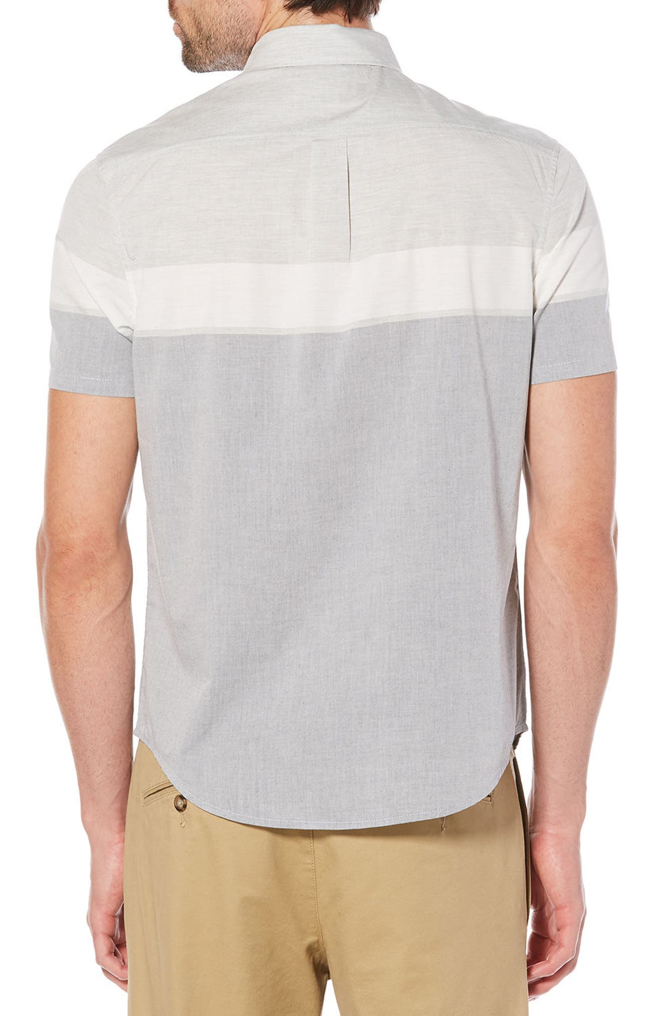 Engineered Stripe Woven Shirt,                             Alternate thumbnail 2, color,                             Dark Sapphire