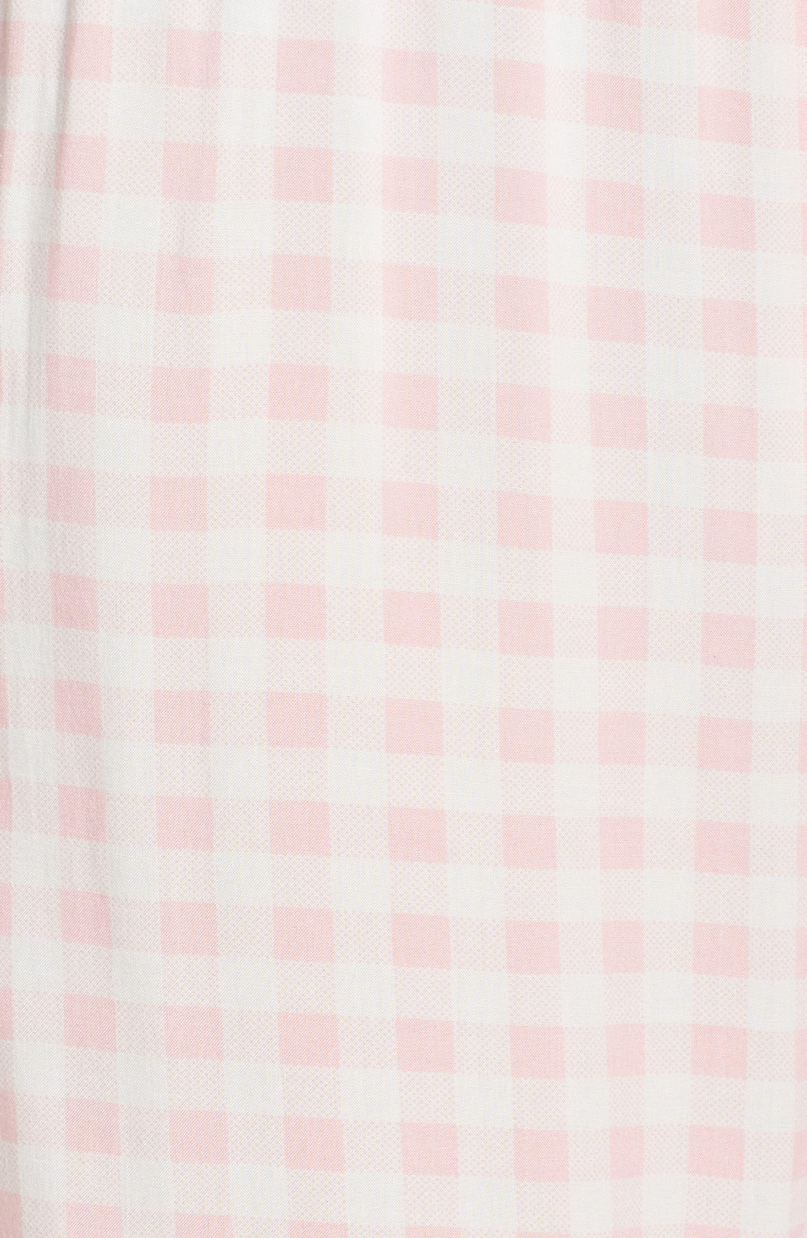 Gingham Pajama Pants,                             Alternate thumbnail 7, color,                             Pink