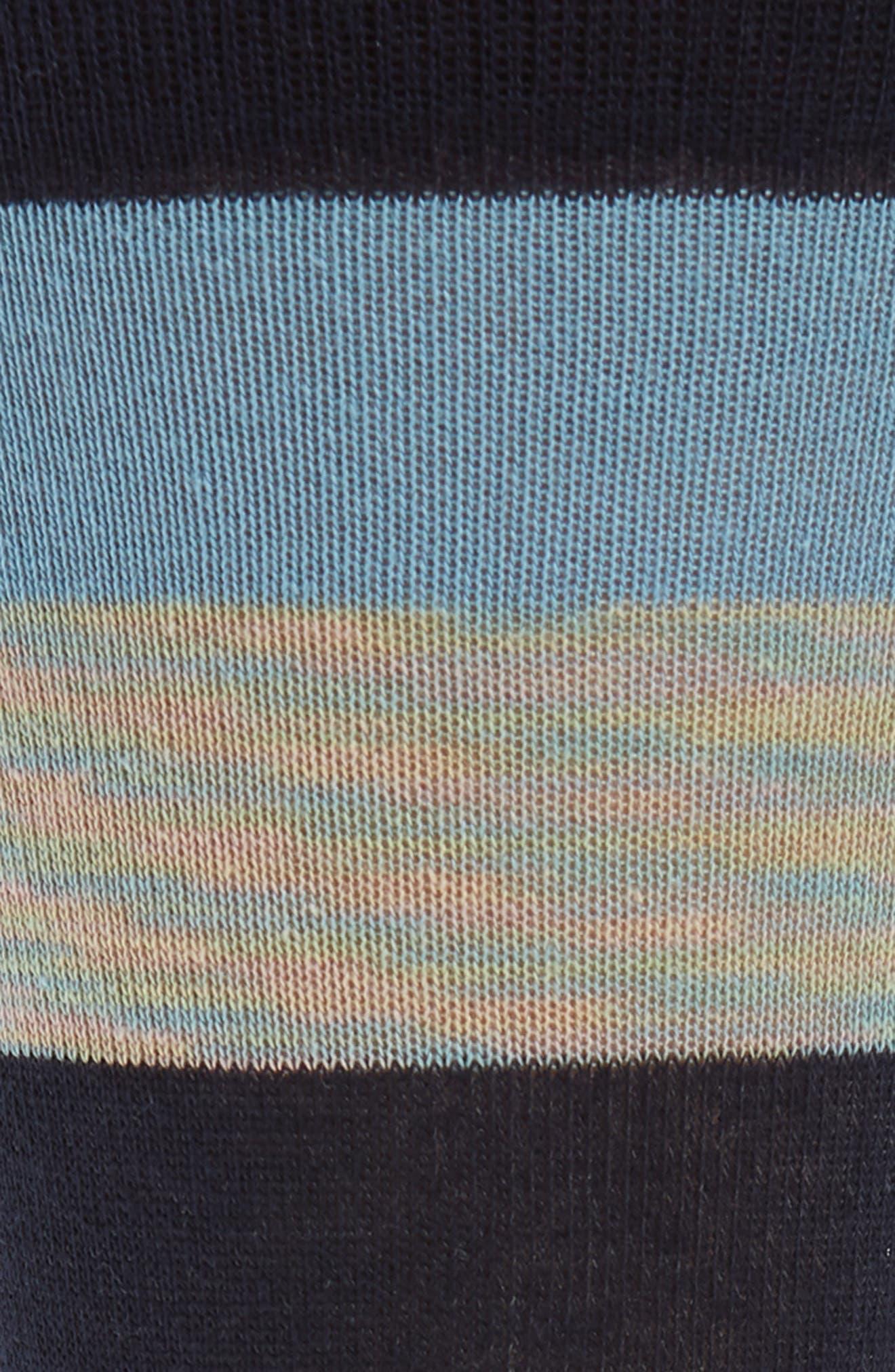 Rugby Stripe Socks,                             Alternate thumbnail 2, color,                             Light Blue