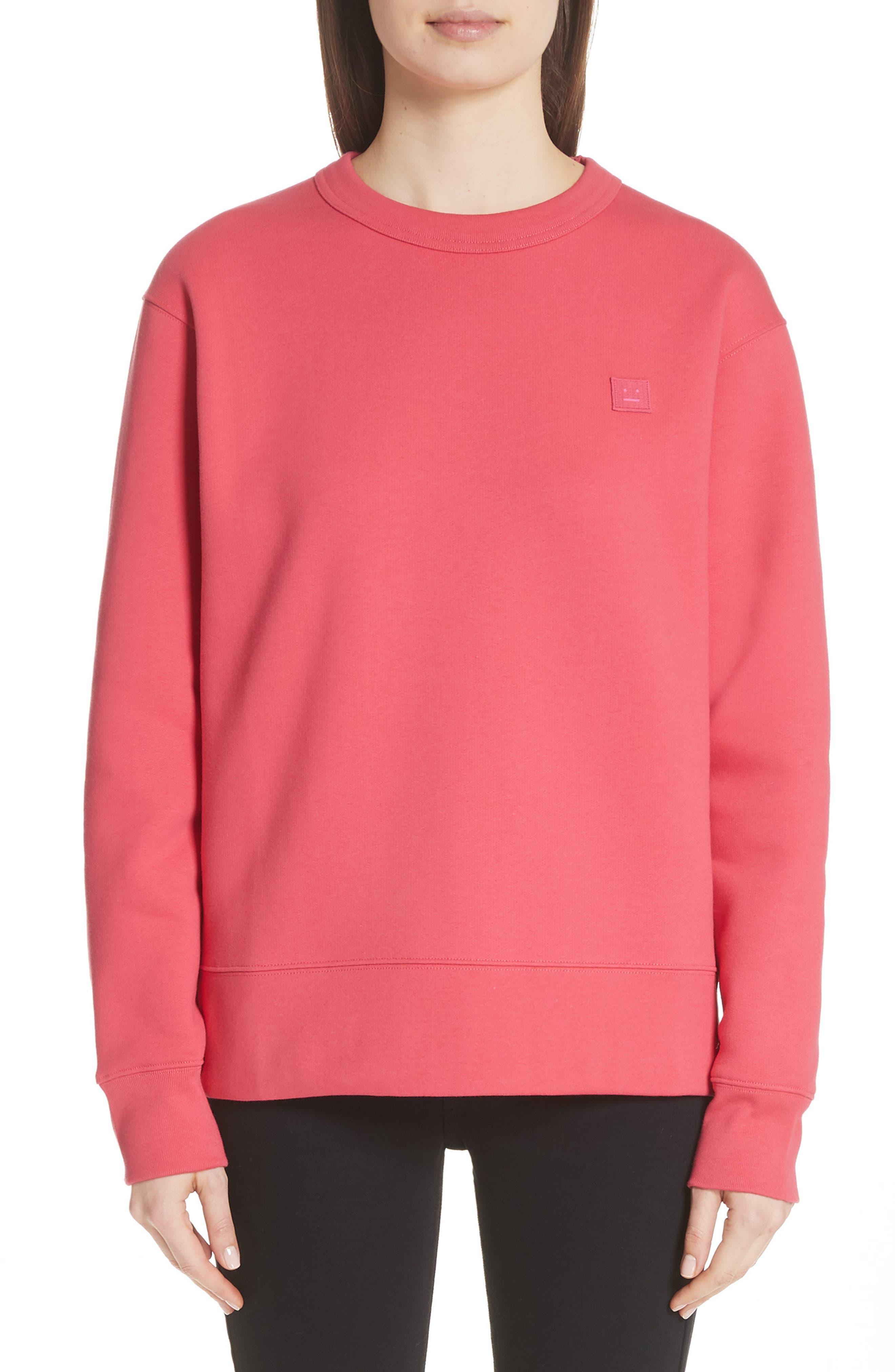 Fairview Crewneck Sweatshirt,                             Main thumbnail 1, color,                             Neon Pink