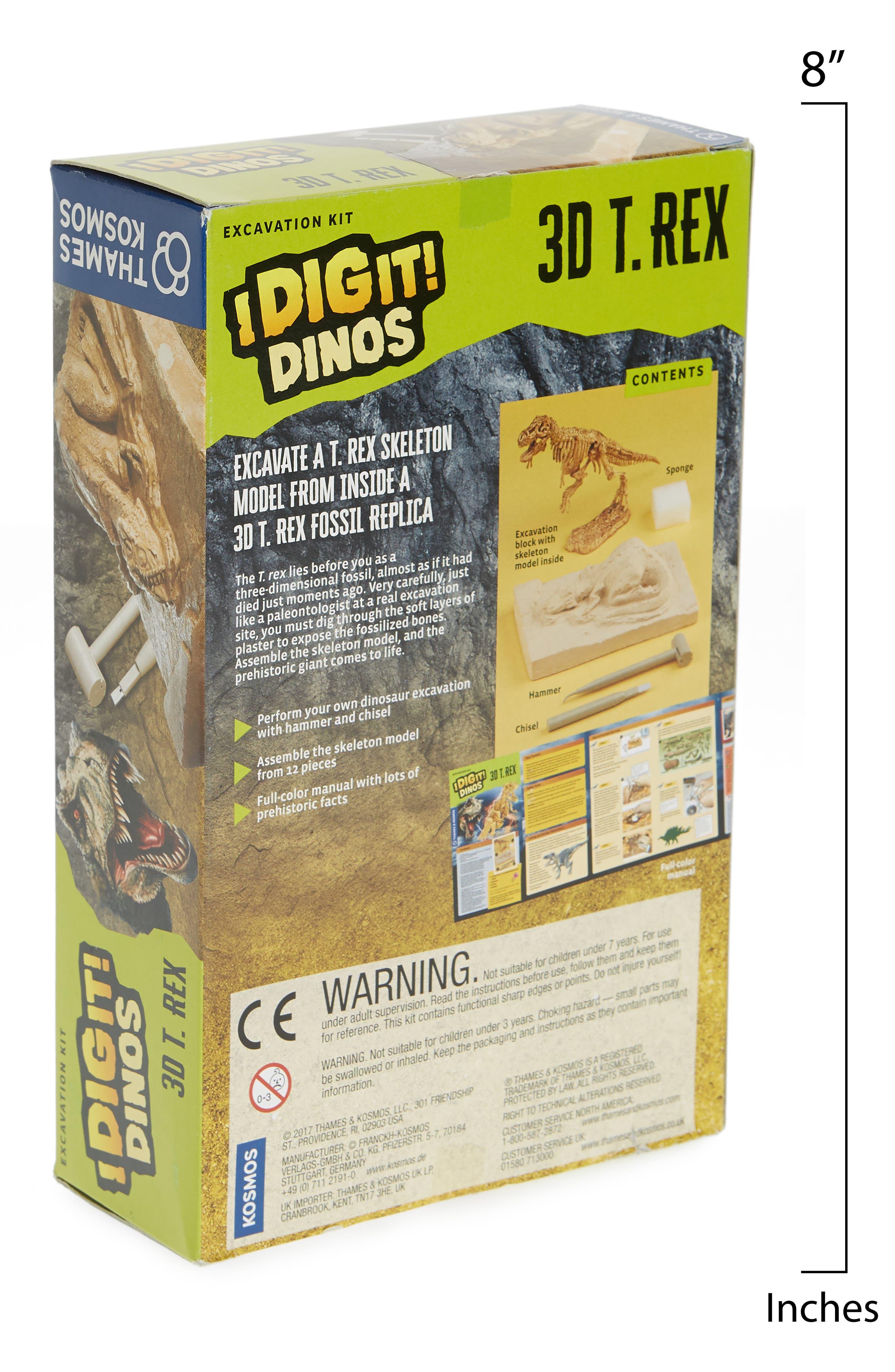 I Dig It! 17-Piece 3D T-Rex Excavation Kit,                             Alternate thumbnail 2, color,                             Beige