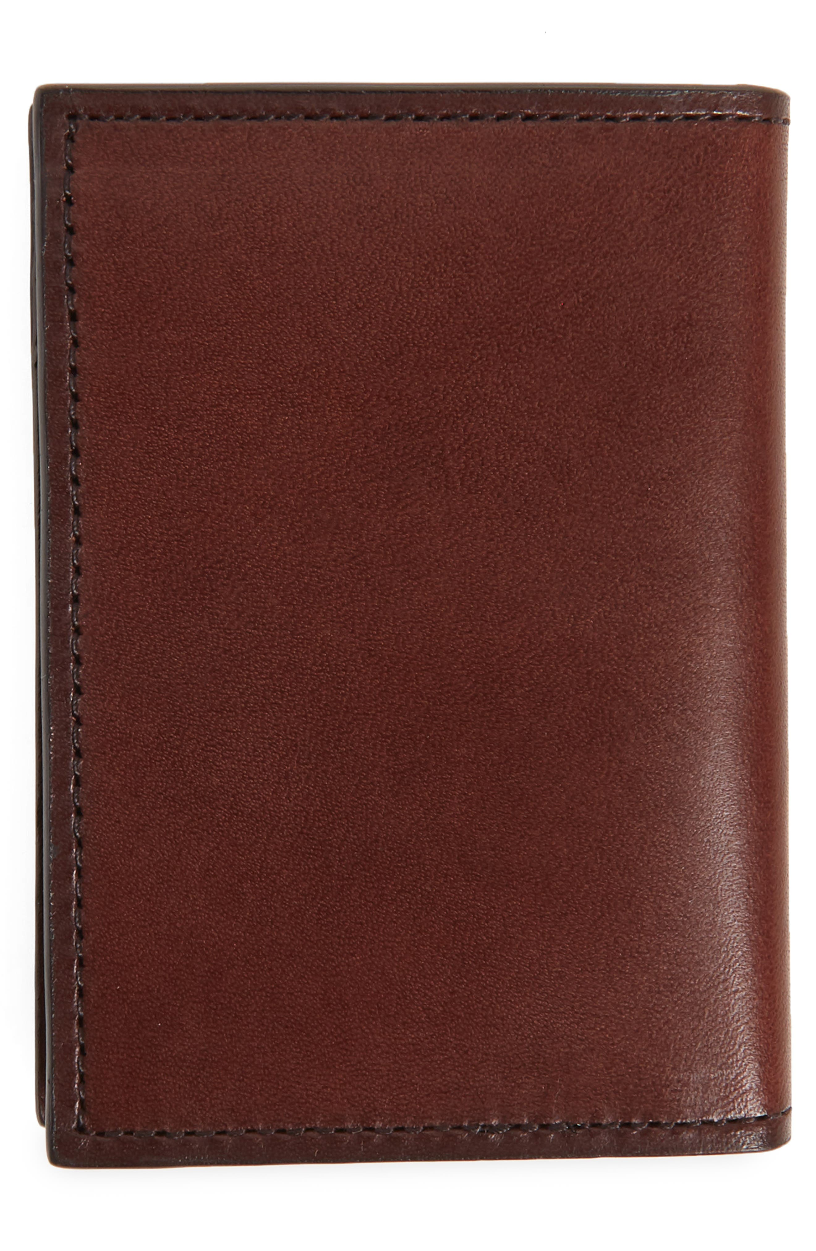 Parker Leather Bifold Card Case,                             Alternate thumbnail 3, color,                             Brown