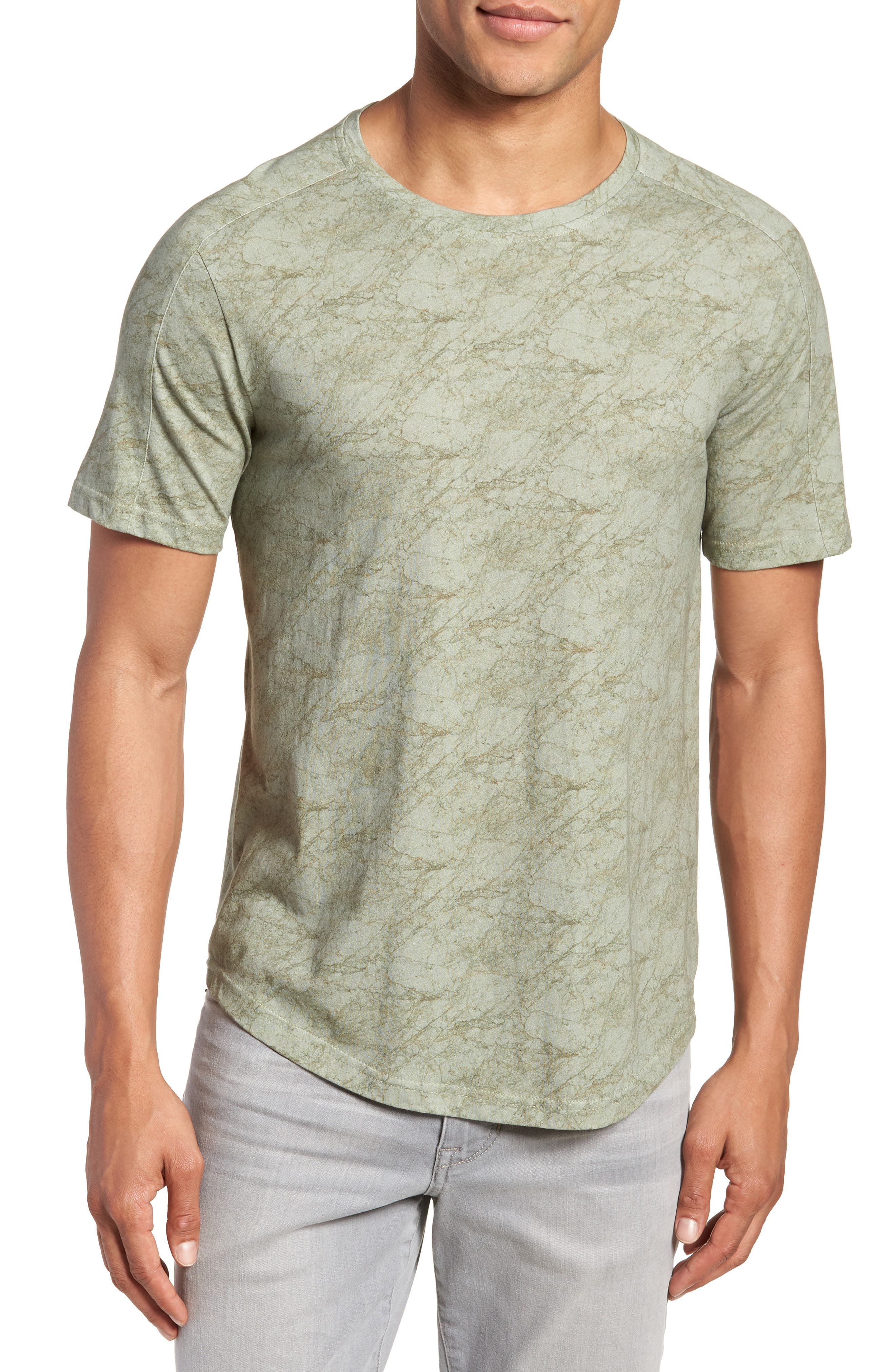 Chelsea Marble Print T-Shirt,                         Main,                         color, Green