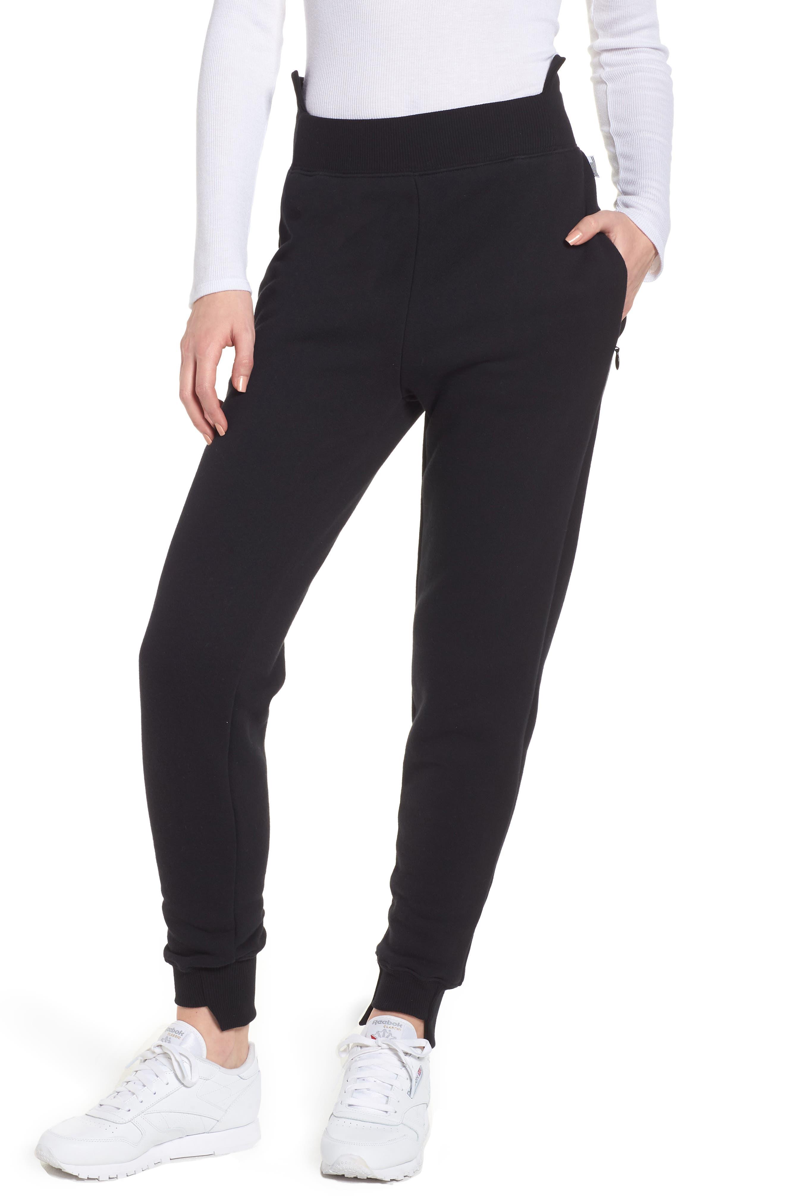 Good Sweats Step Hem Sweatpants,                         Main,                         color, Black