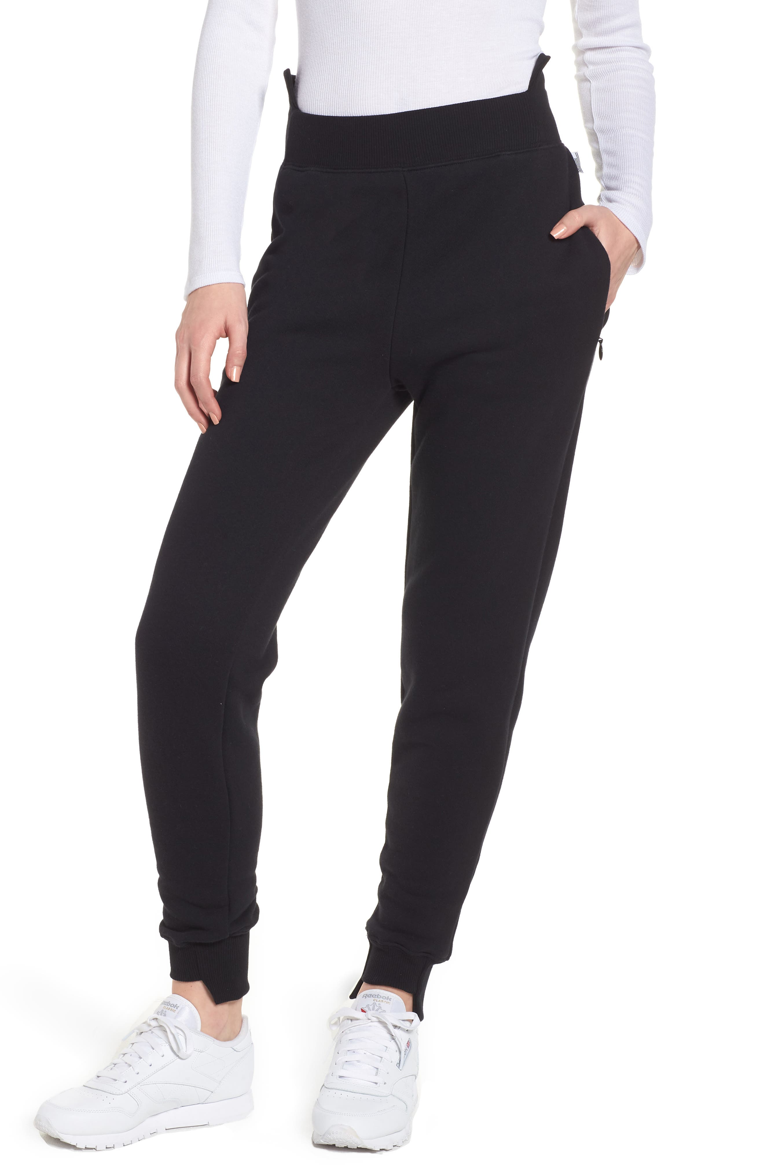 Good American Good Sweats Step Hem Sweatpants (Regular & Plus Size)