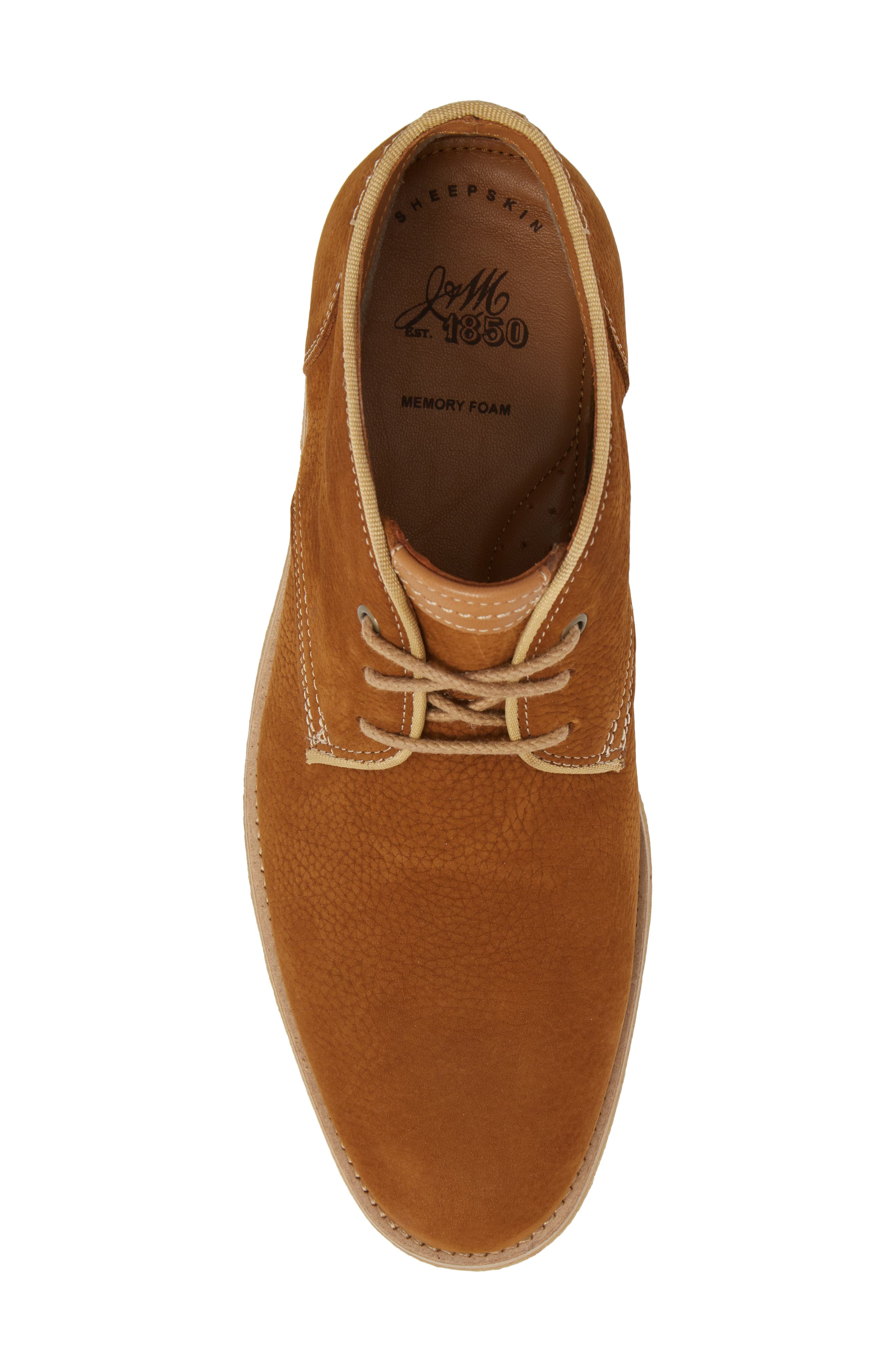 Howell Water Resistant Chukka Boot,                             Alternate thumbnail 5, color,                             Tan Nubuck Leather