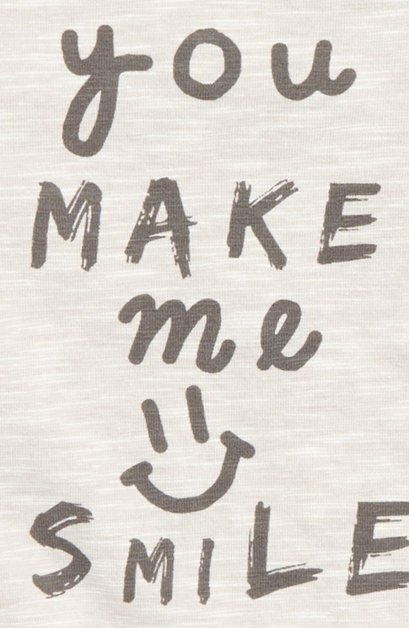 You Make Me Smile Romper,                             Alternate thumbnail 3, color,                             Grey
