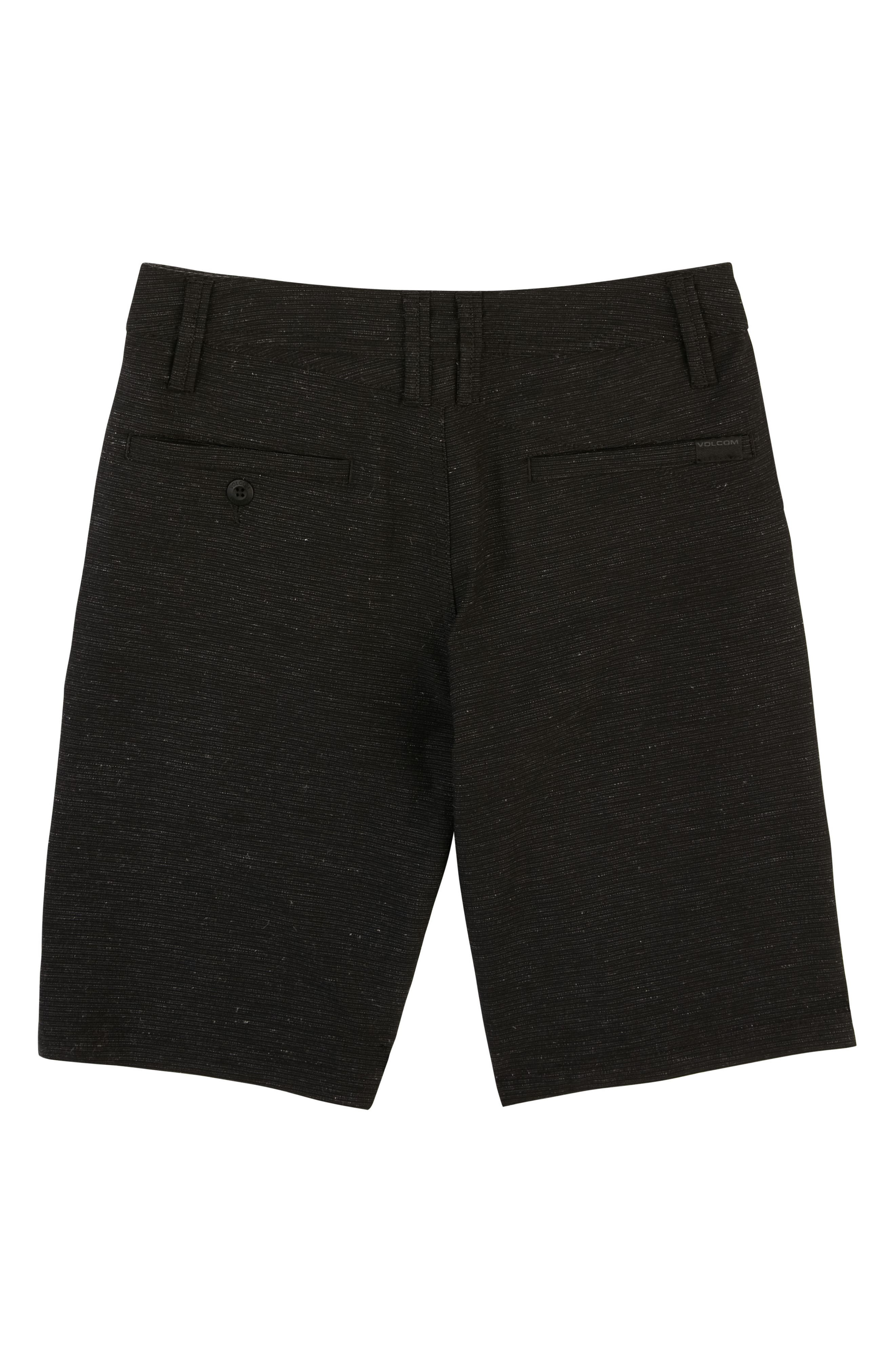 Surf N' Turf Slub Hybrid Shorts,                             Alternate thumbnail 2, color,                             Black
